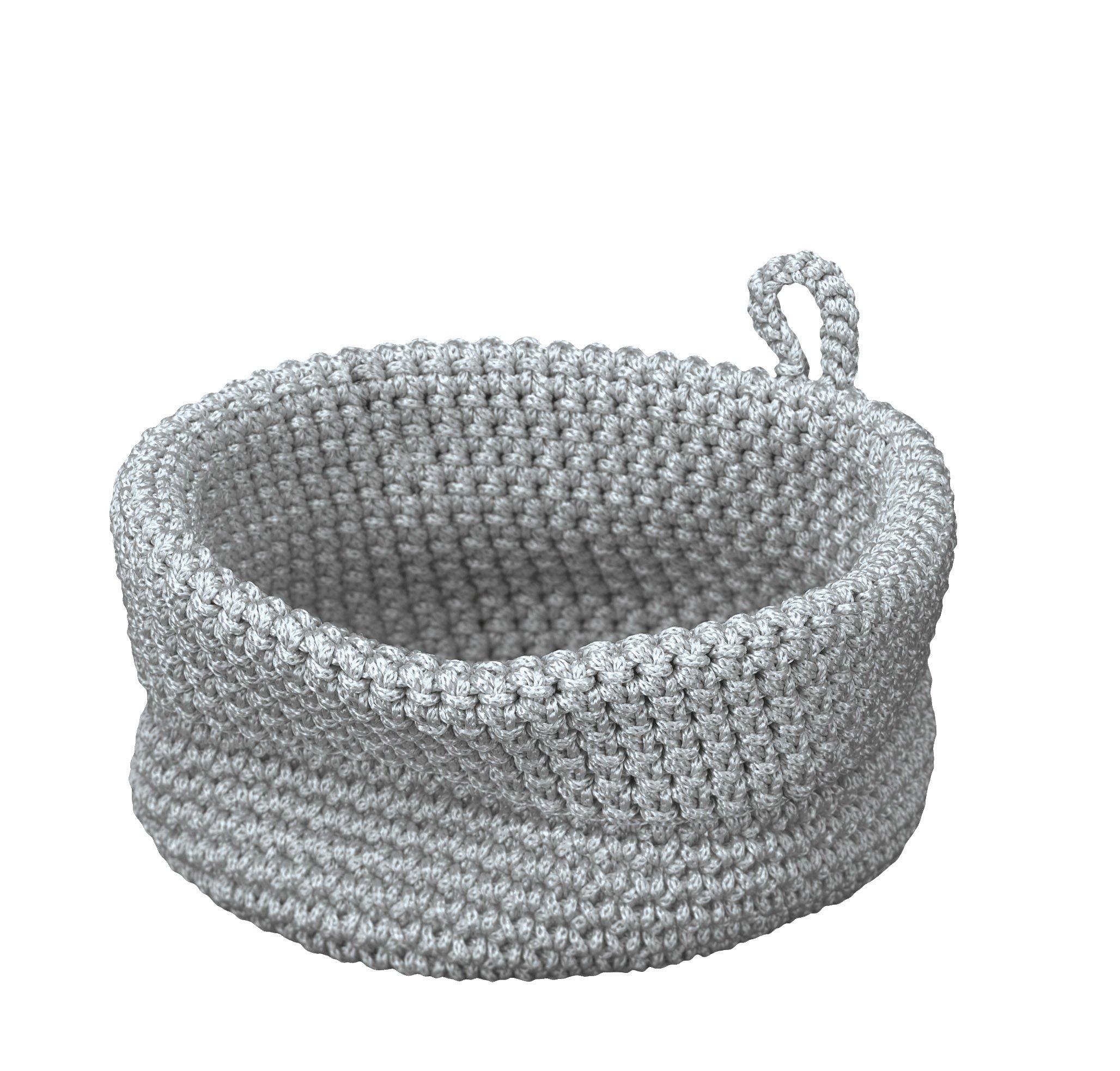 Korb Malvina Silbergrau B:16cm
