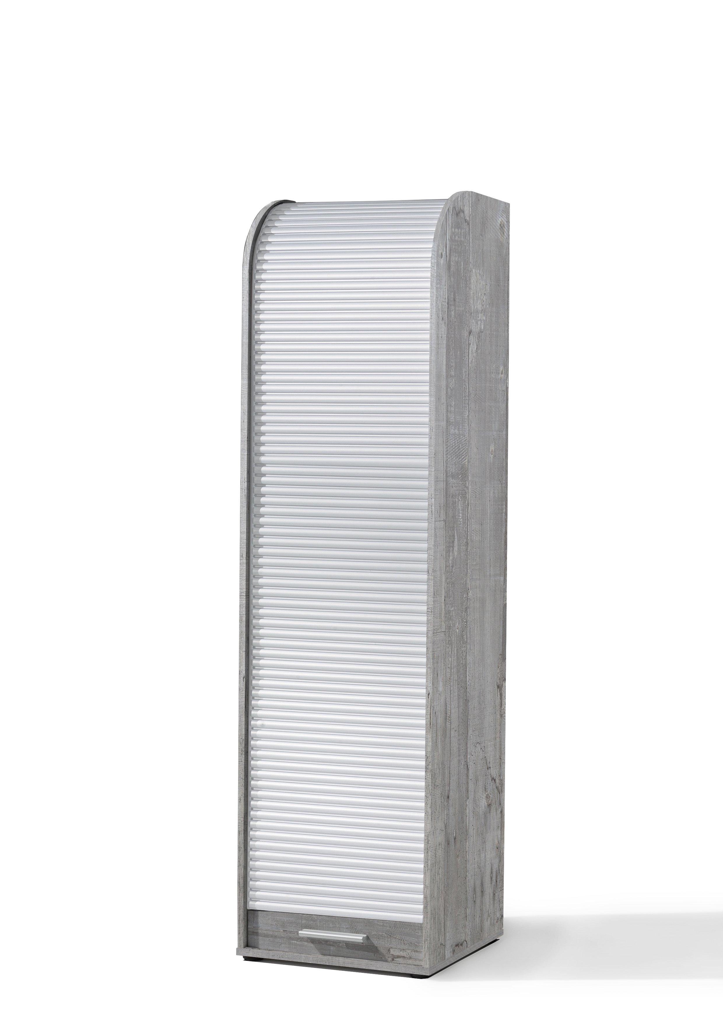 Rolloschrank beton / weiß