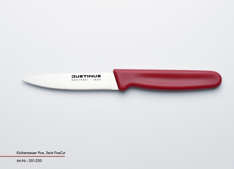 Küchenmesser, 9 cm Fine Cut roter Griff