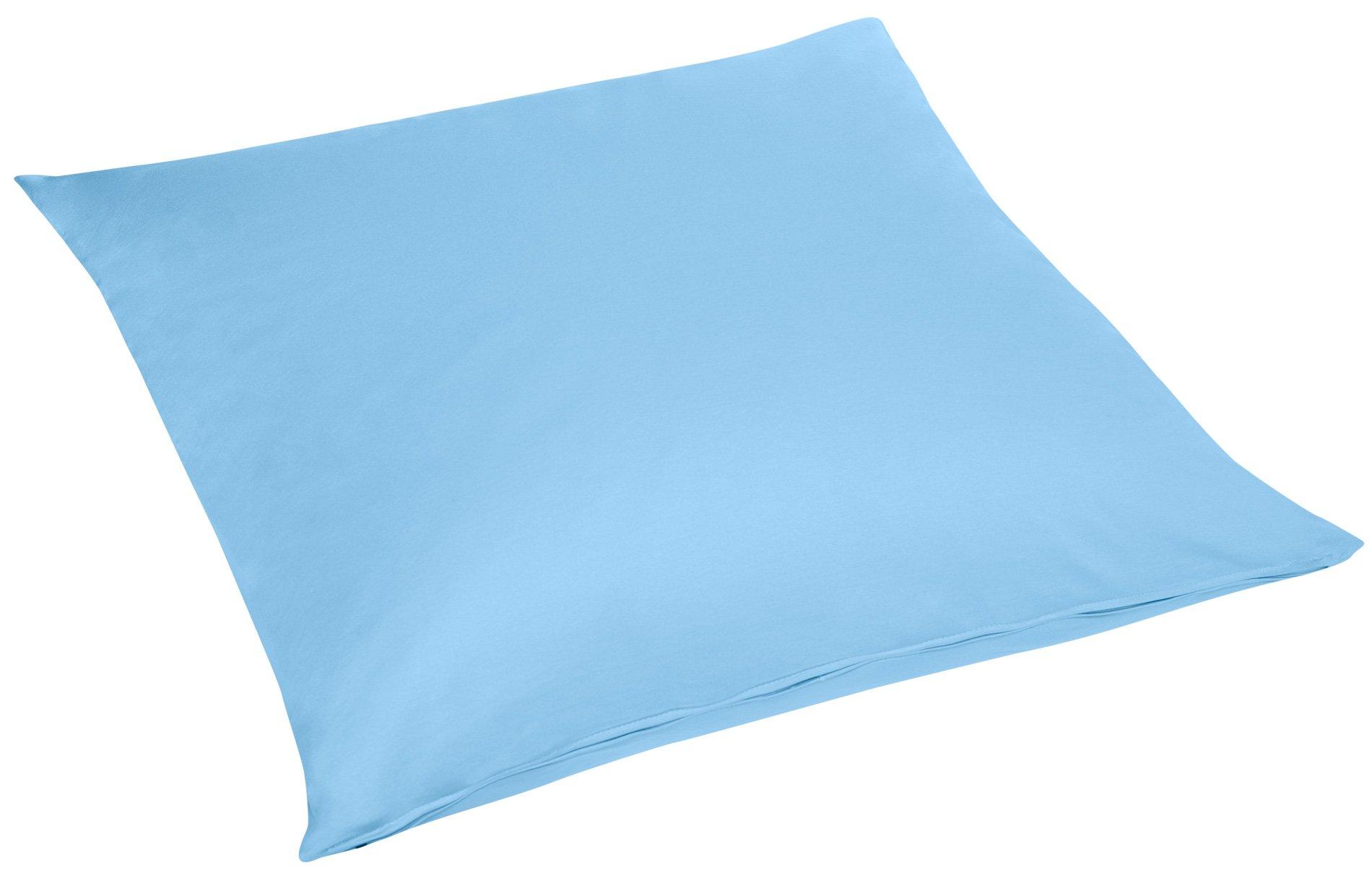 Edel-Zwirn-Jersey hellblau B80cm