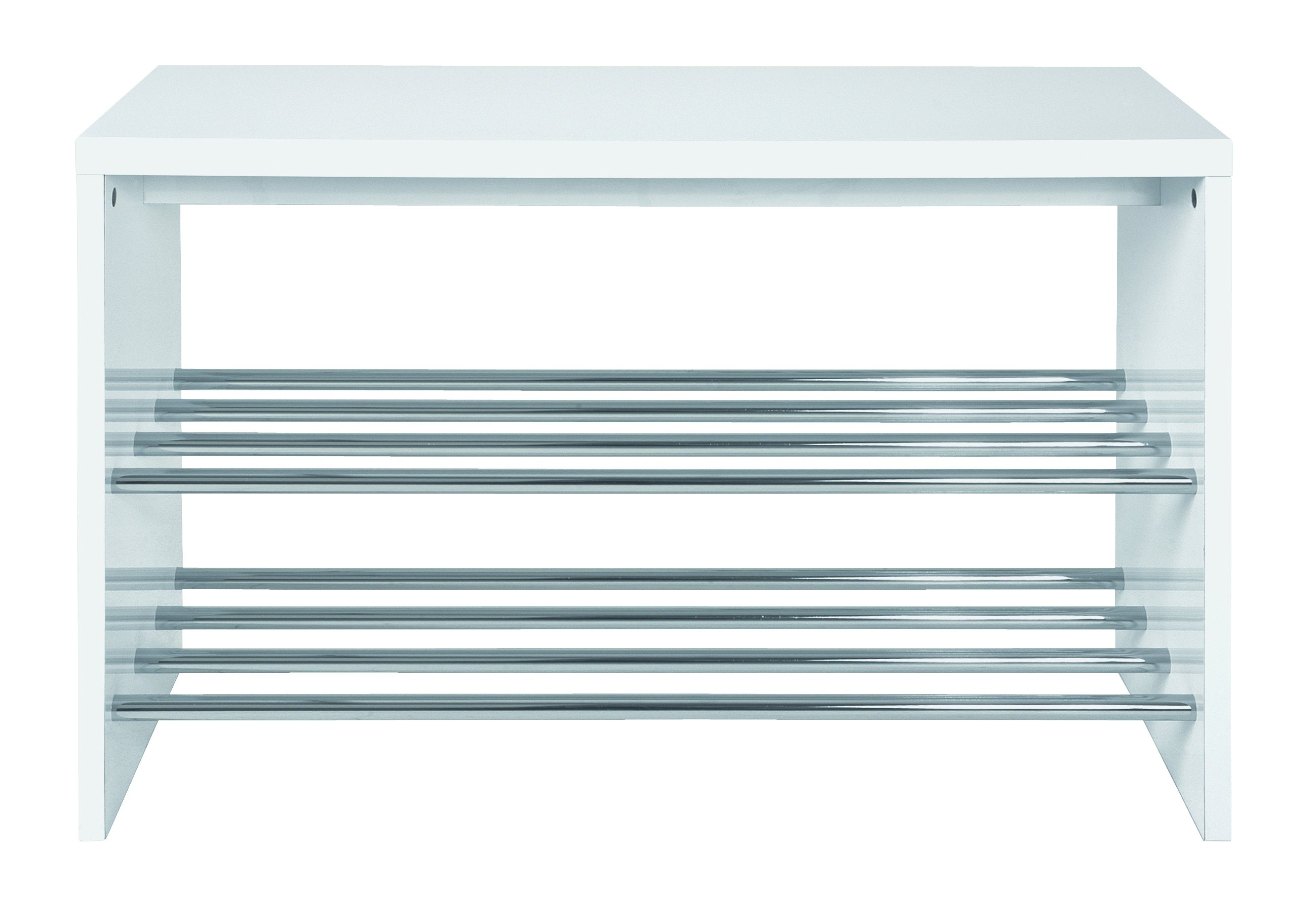 Schuhbank Martin 2 FaserSpanOderWabenplatte/MDF (Mitteldichte Faserplatte),Kunststoffoberfläche,MetallEisen/Metall,MetallEisen/Stahlrohr