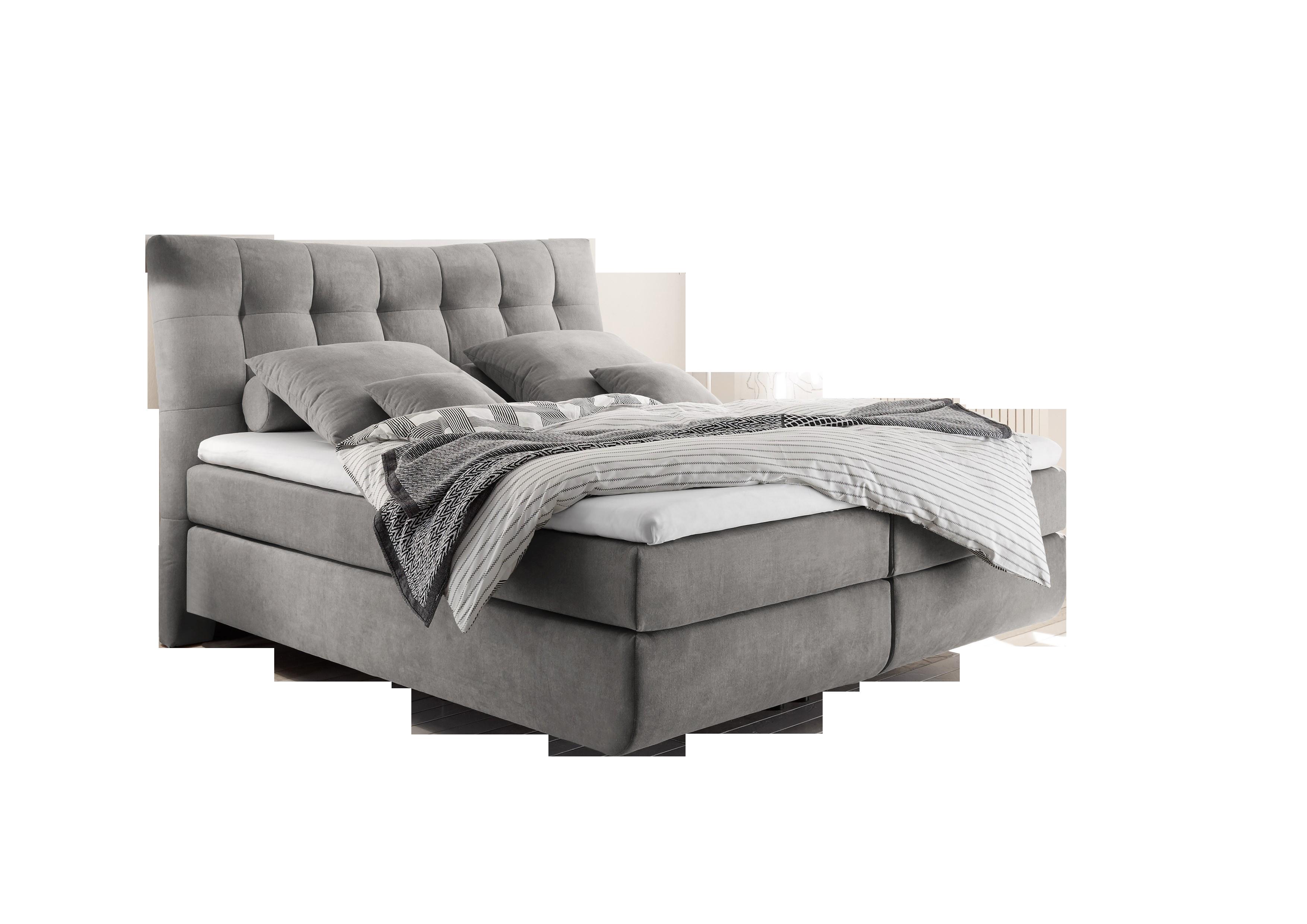 Boxspringbett Malibu grey 100% Polyester