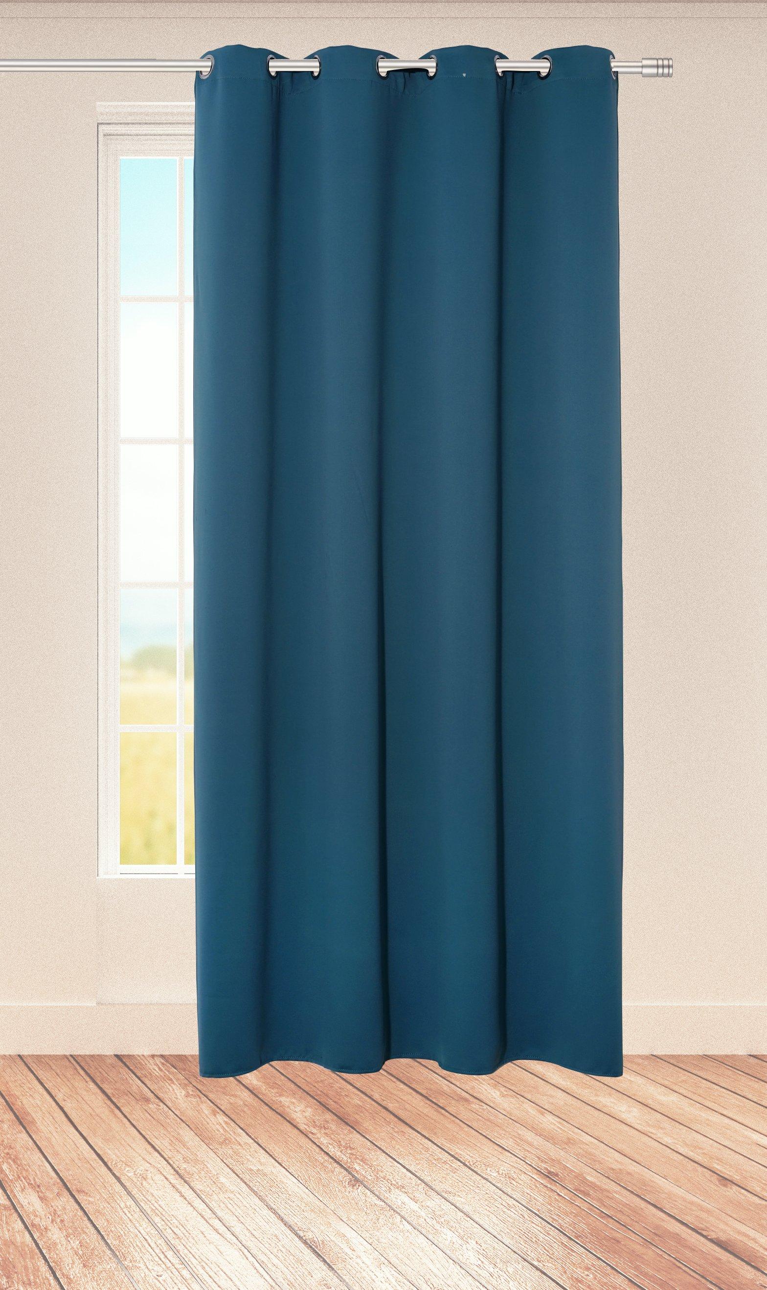 Ösenvorhang Midnight 140x245cm, blau