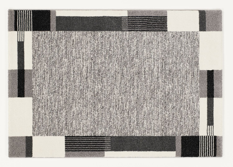 moderner Designer Teppich VILLA MODA h.grau