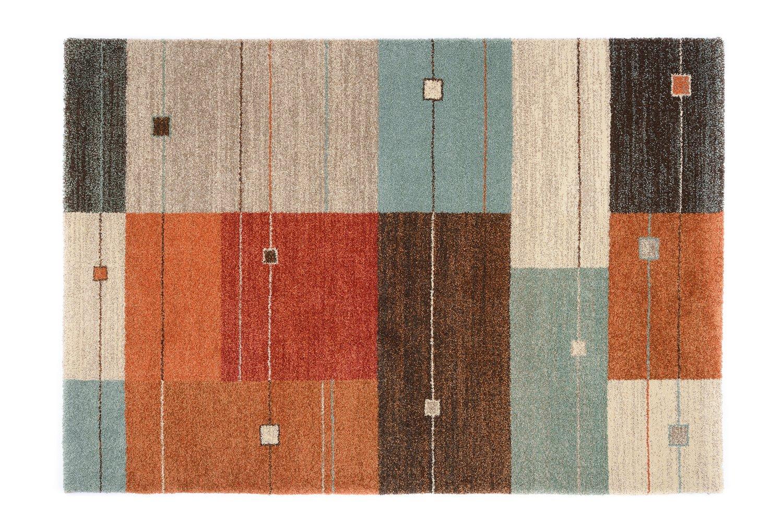 moderner Designer Teppich Öko-Tex CASTLE MODENA terra-mix