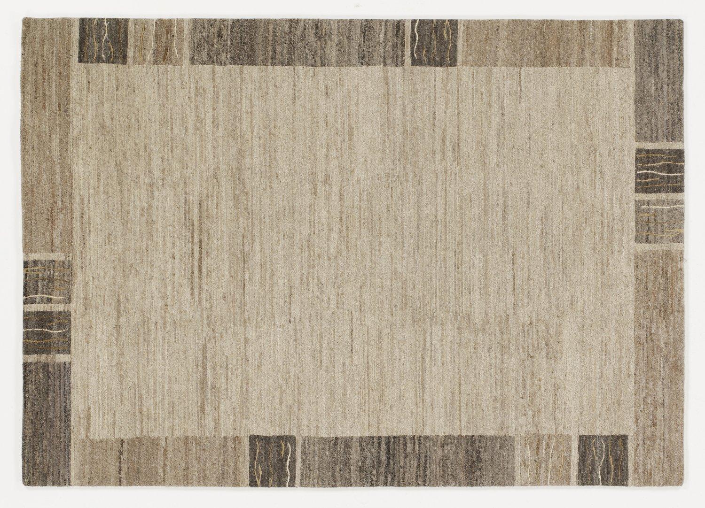 echter original handgeknüpfter Nepal-Teppich NATURA SILK 100 GRENY wolle-natur