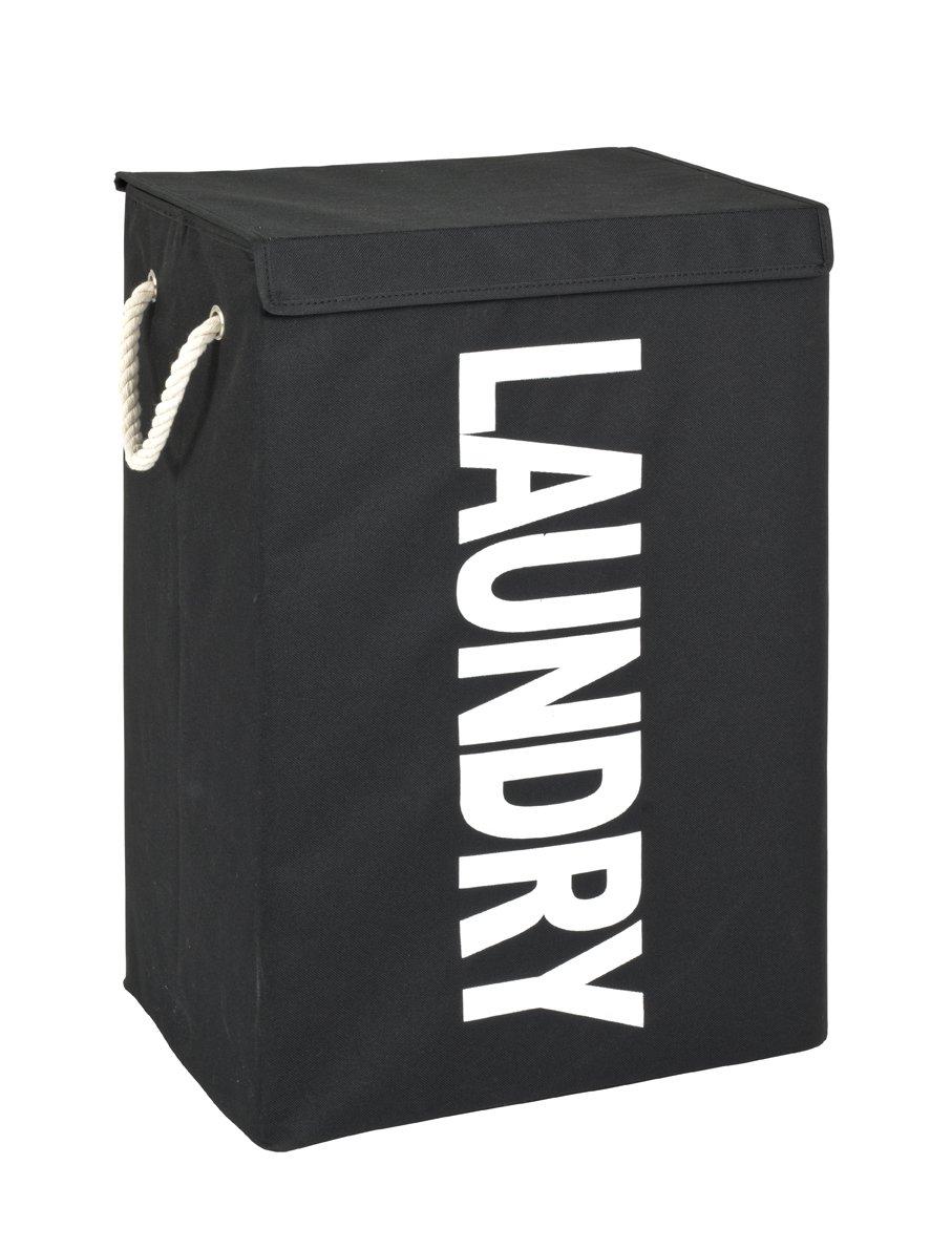 Wäschesammler, schwarz-weiß, Textilgewebe