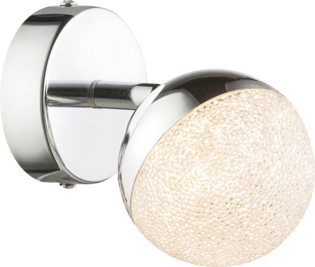 LED Strahler, 1xLED_Chrom, Metallfarben