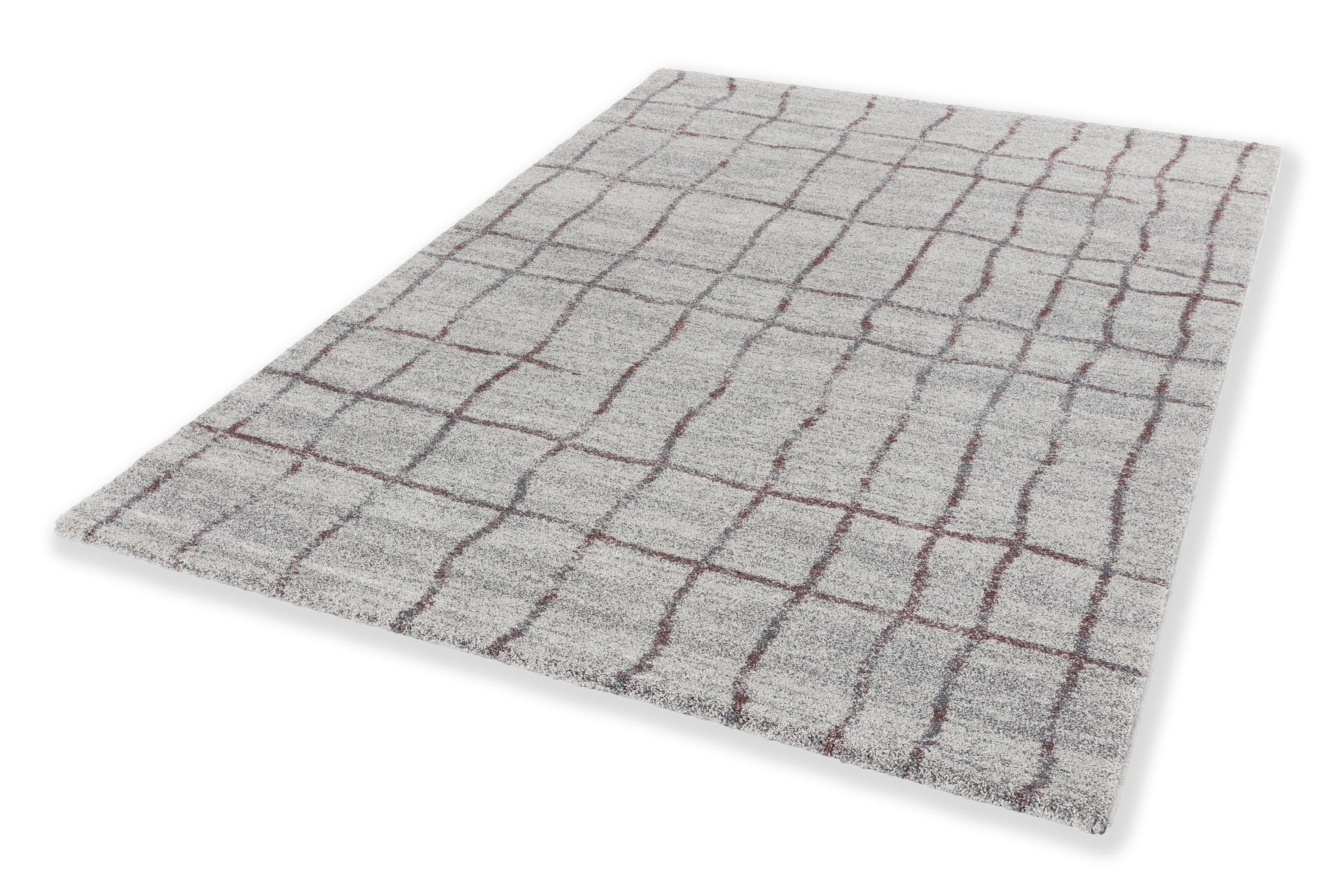 Webteppich Savona 200x290 cm Gitter Aubergine