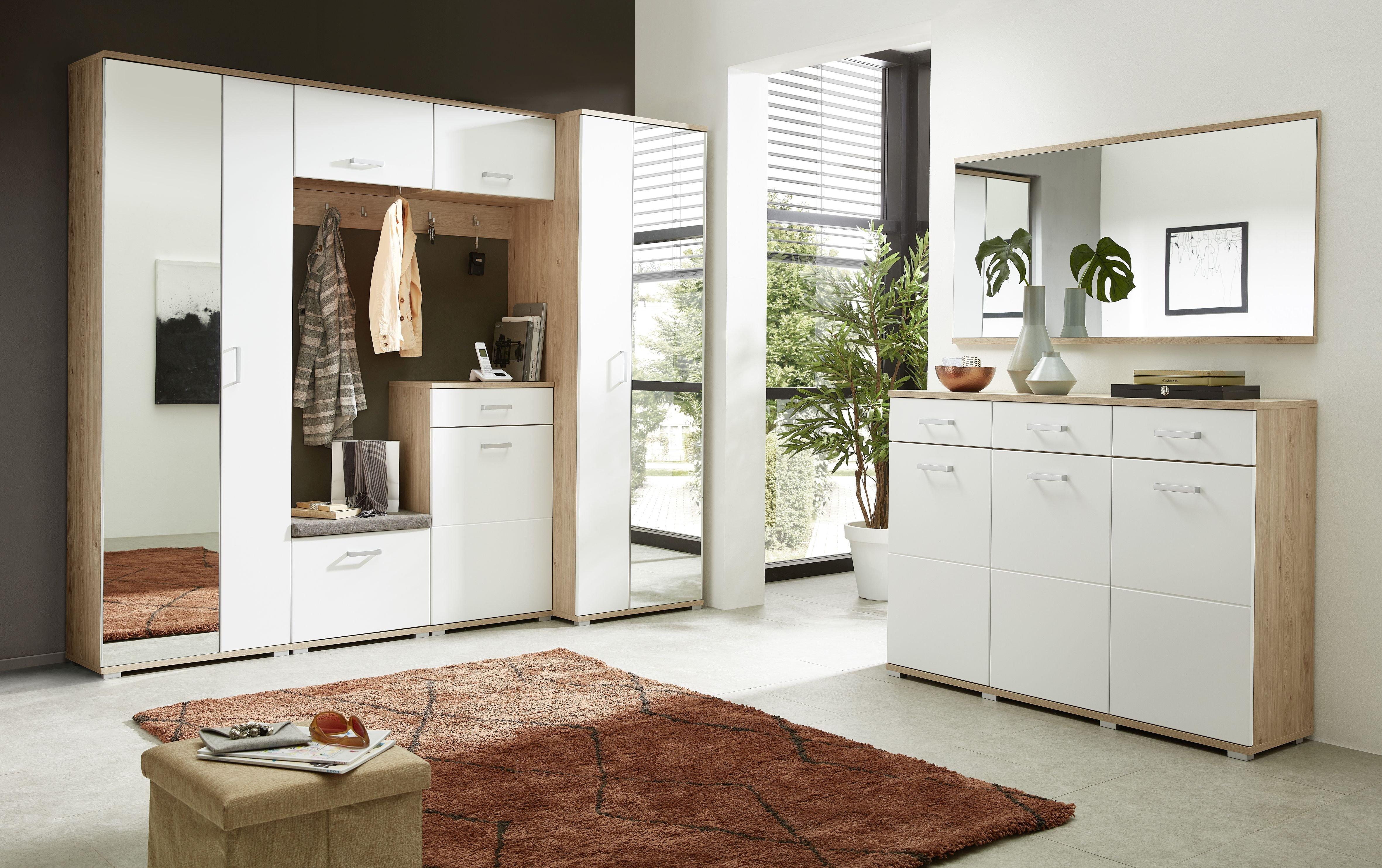 Garderobenpaneel Arkona, braun, Eiche, Holz, Beschichtete Spanplatte