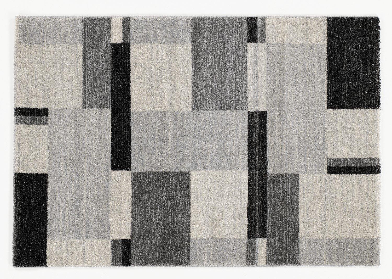 moderner Designer Teppich Öko-Tex CASTLE BEPPO grau-mix
