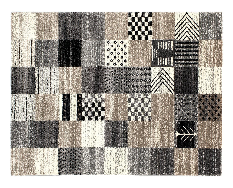 moderner Designer Teppich BUTTERFLY SEMPOR beige-grau