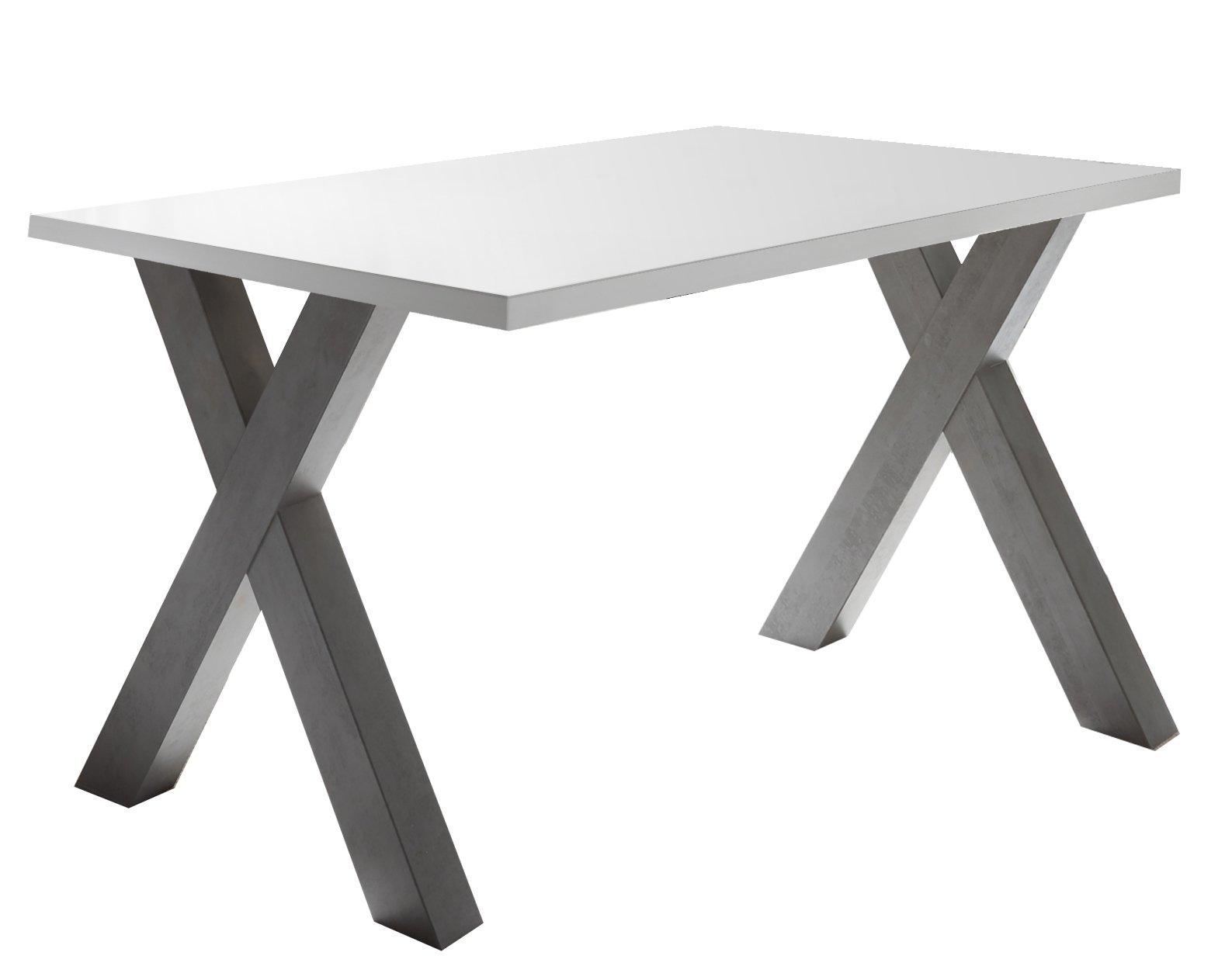 Schreibtisch graphit / weiß matt lack