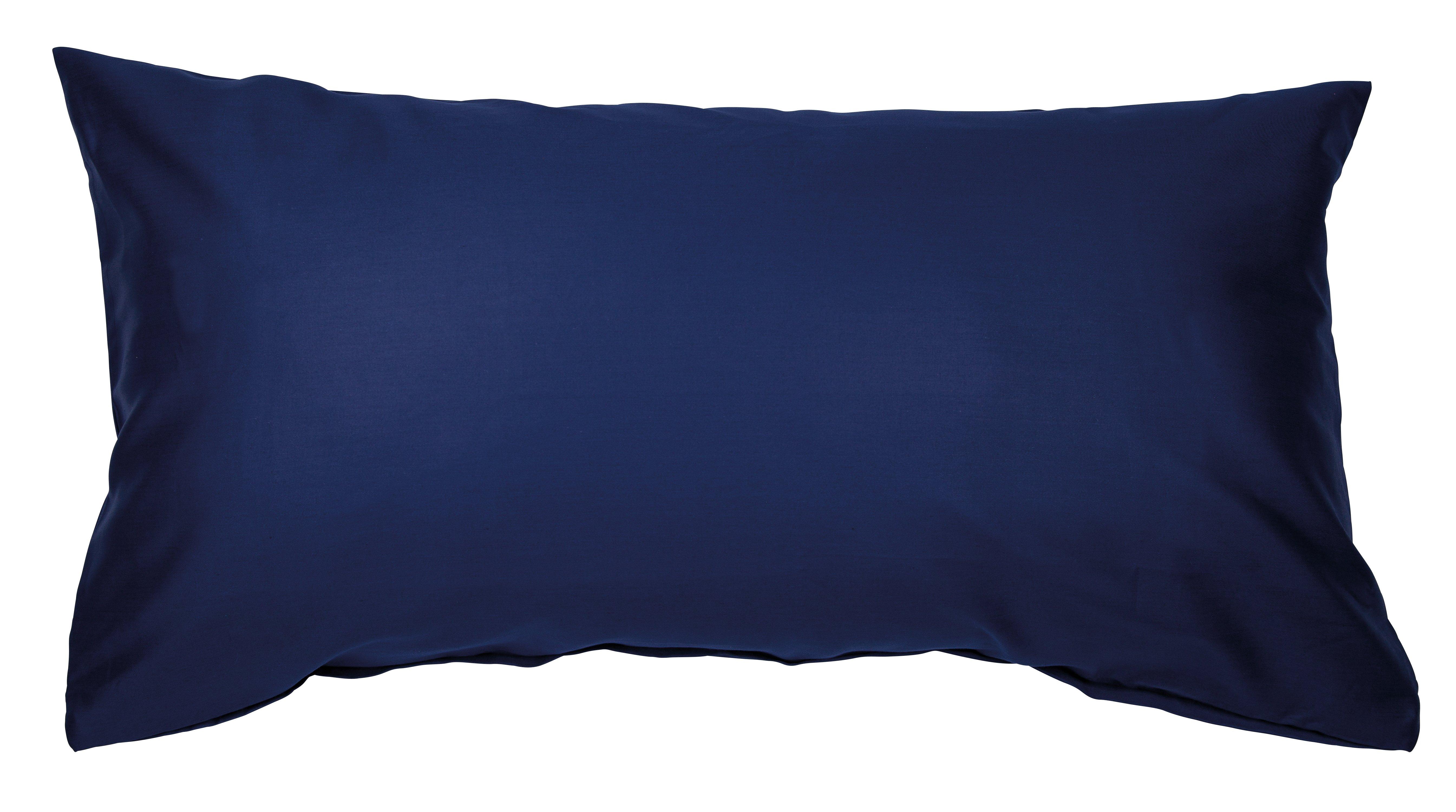 Colors Mako-Satin K.-Bezug 40x80cm marine