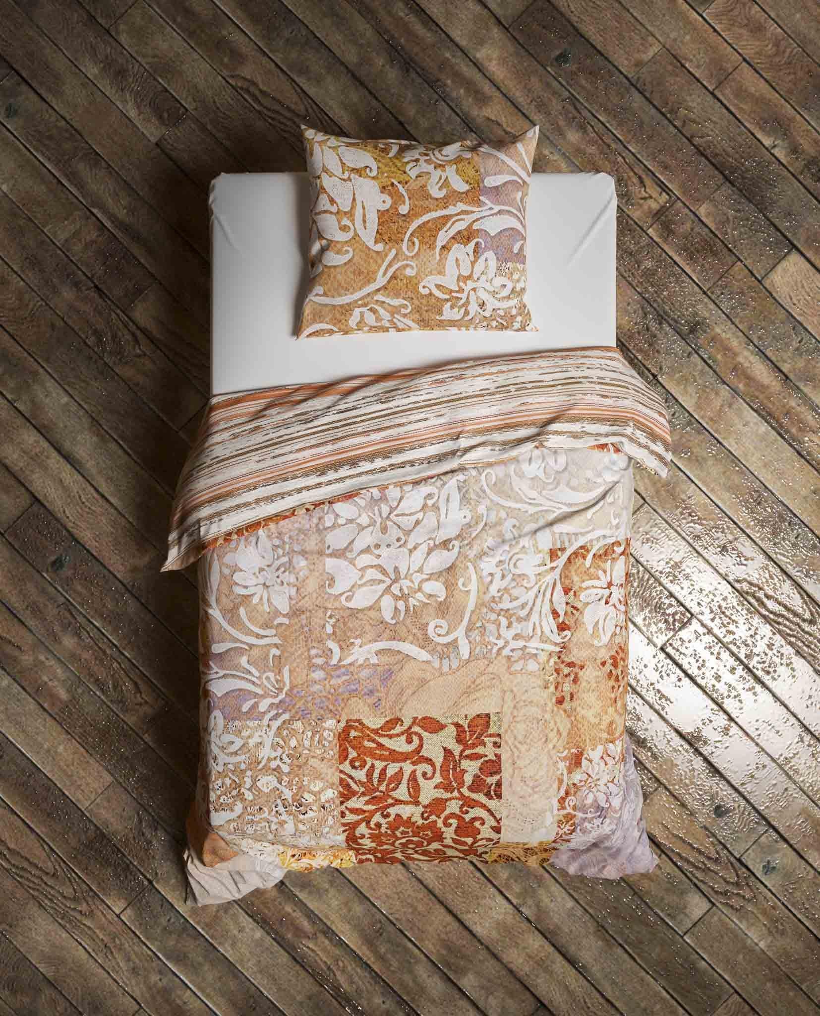 Bettwäsche Orida 135x200cm Redwood Brown