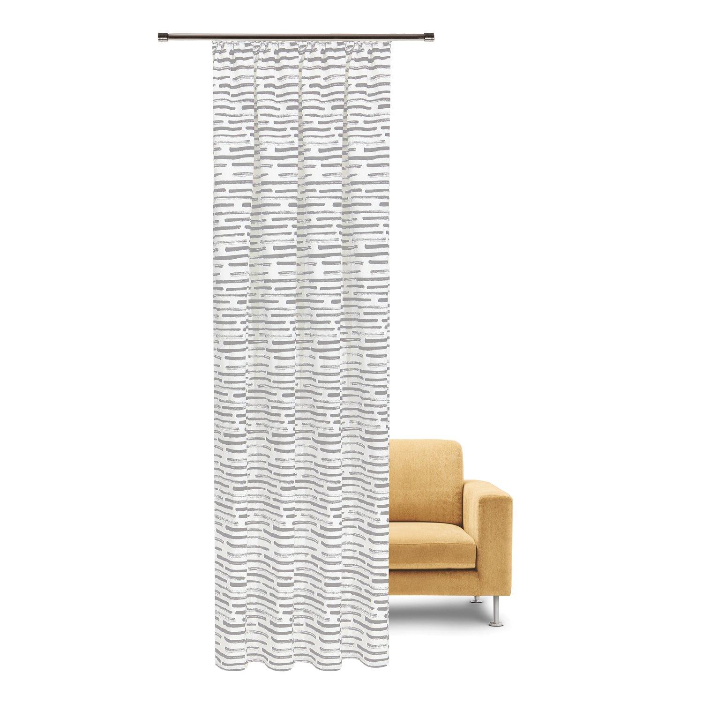 Fertigschal hellgrau bedruckt aus 100% Bio-Baumwolle