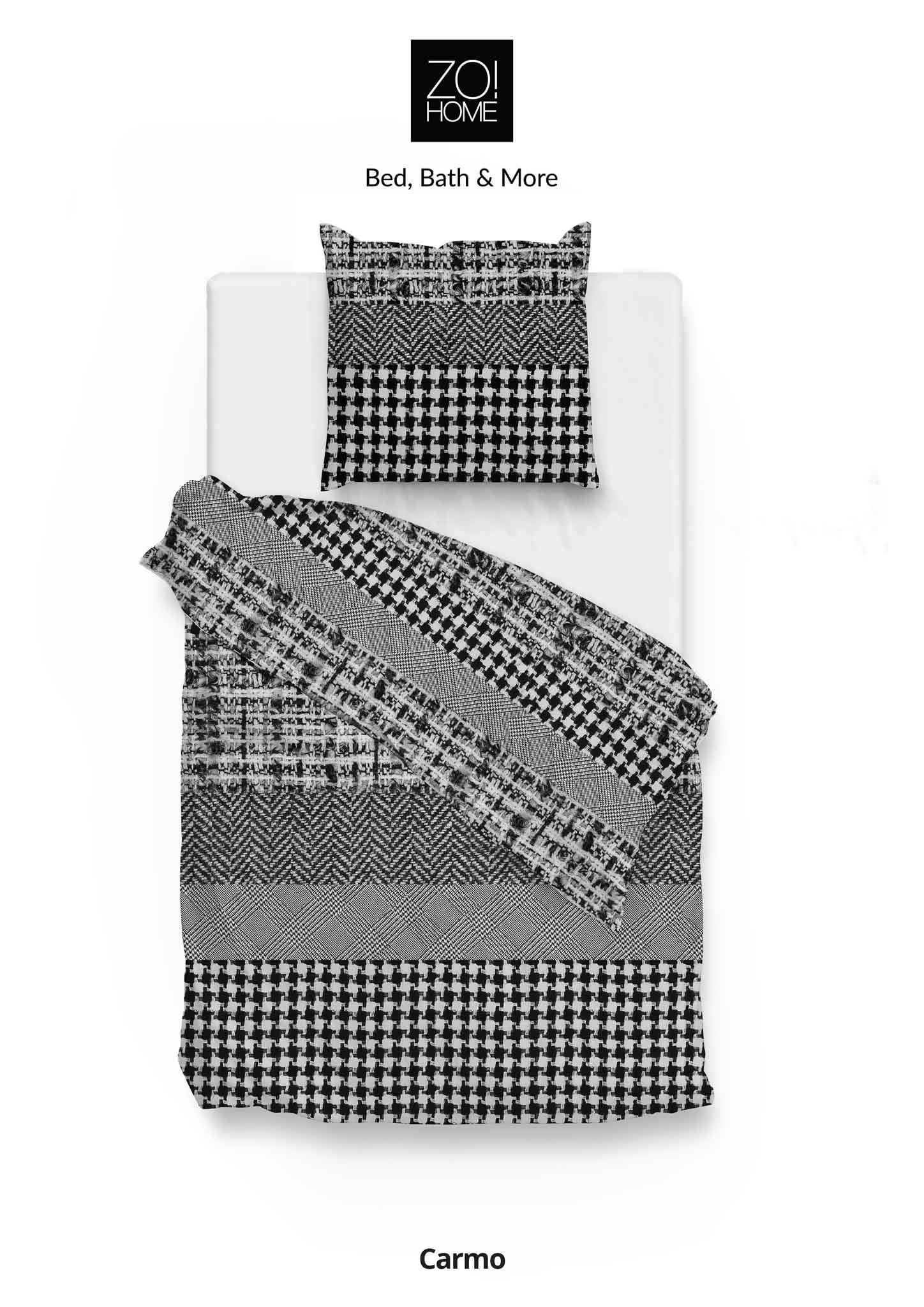 Bettwäsche Carmo 155x220cm Black/White