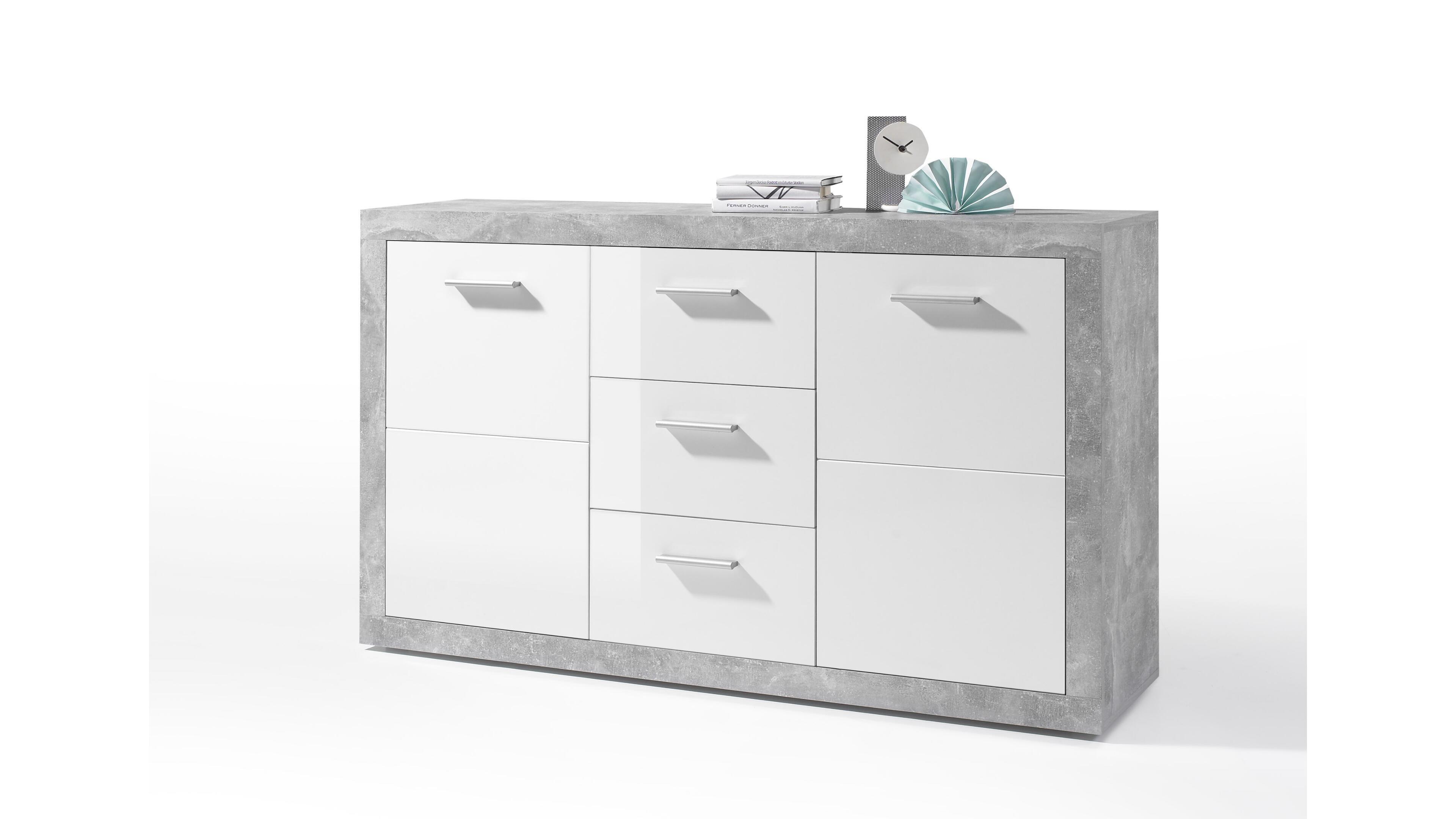 Sideboard Stone Weiß