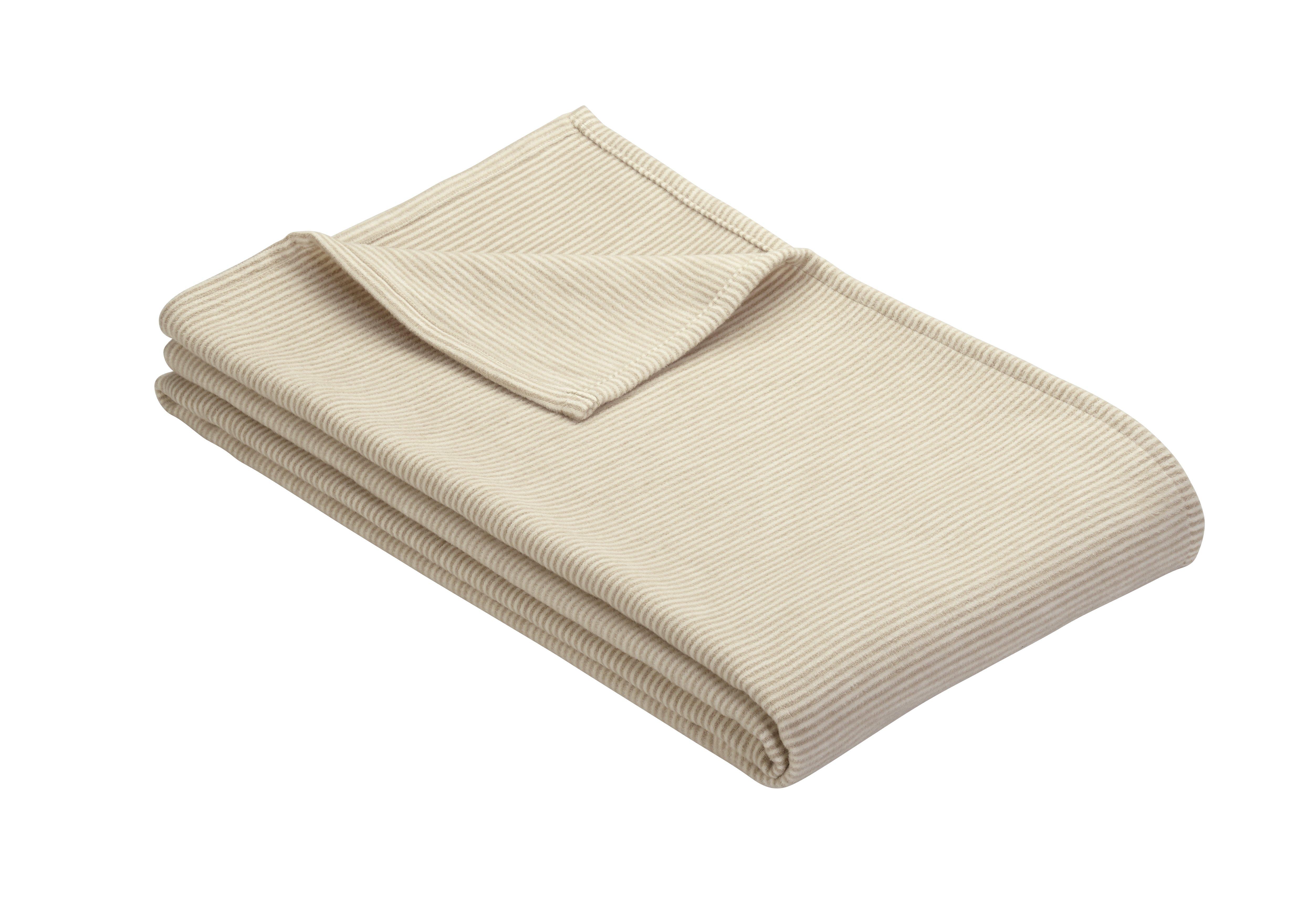 Jacq. Decke Turin mit GOTS-Zertifikat Sand 140x200 cm