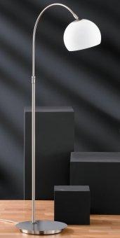 Stehleuchte Bow, Metallfarben | Weiß
