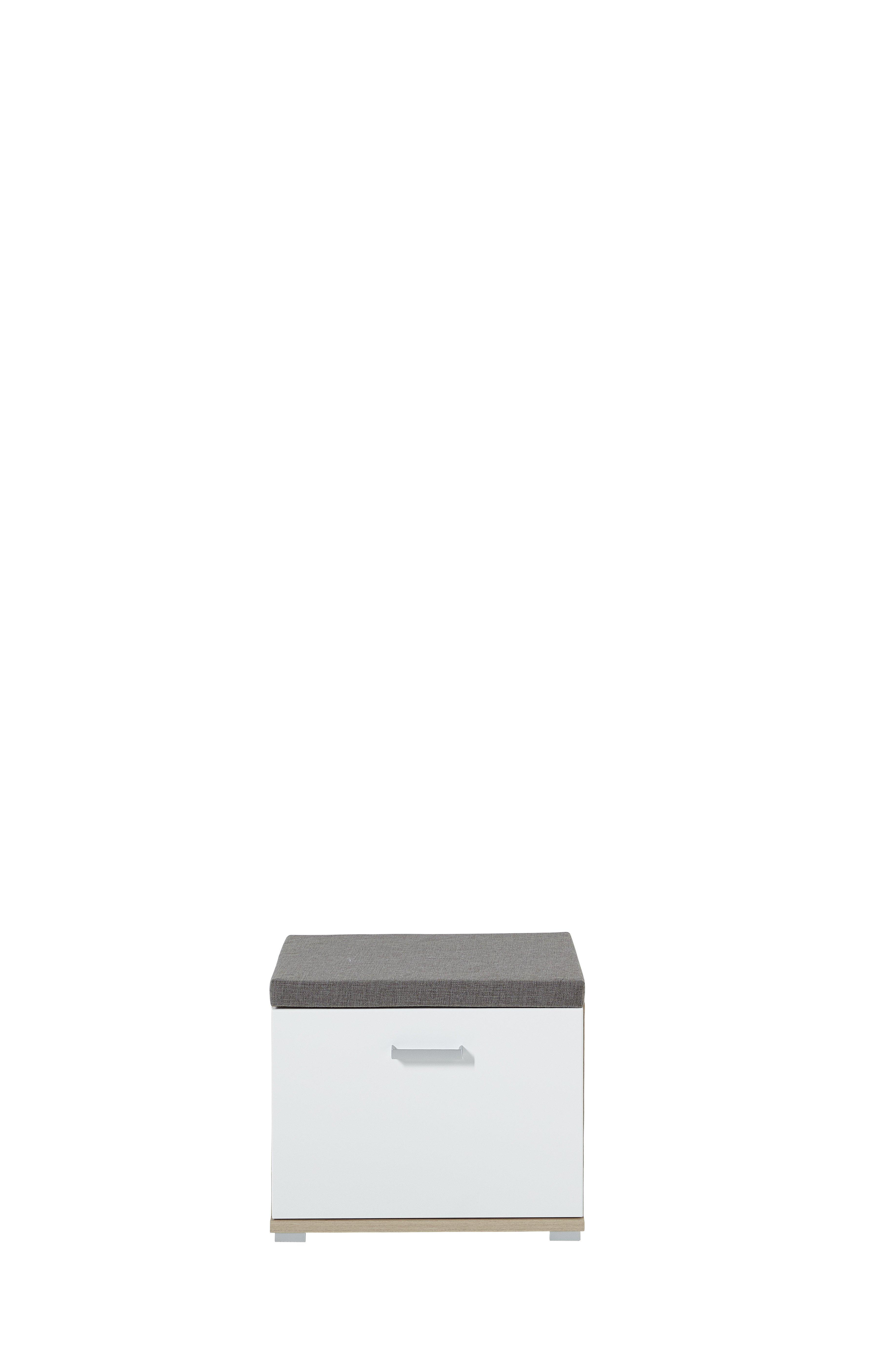 Bank Arkona, weiß, braun, Eiche, Holz, Beschichtete Spanplatte