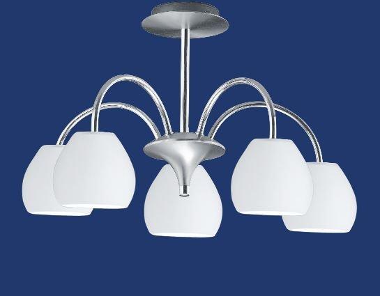 LED-Deckenleuchte, 5-flammig, H33, D62,