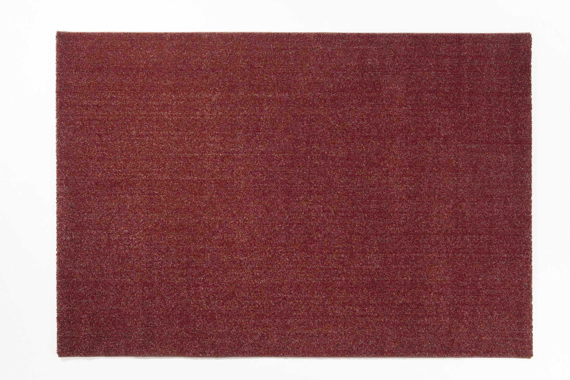 moderner Designer Teppich LOUVRE MELANGE rot-mix