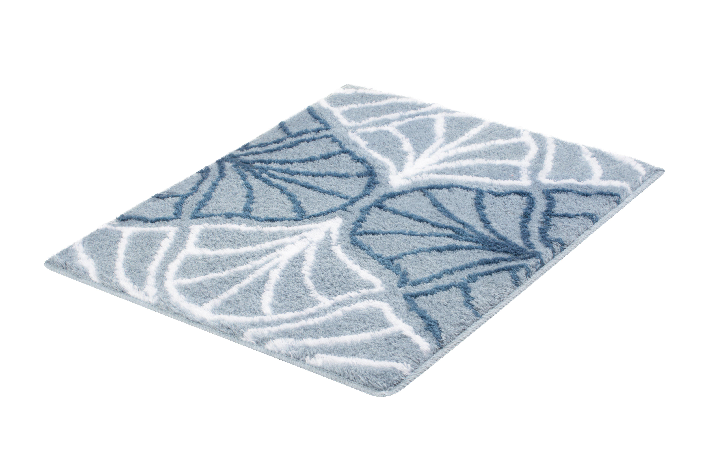 Badteppich Bloom Stahlblau B:55cm