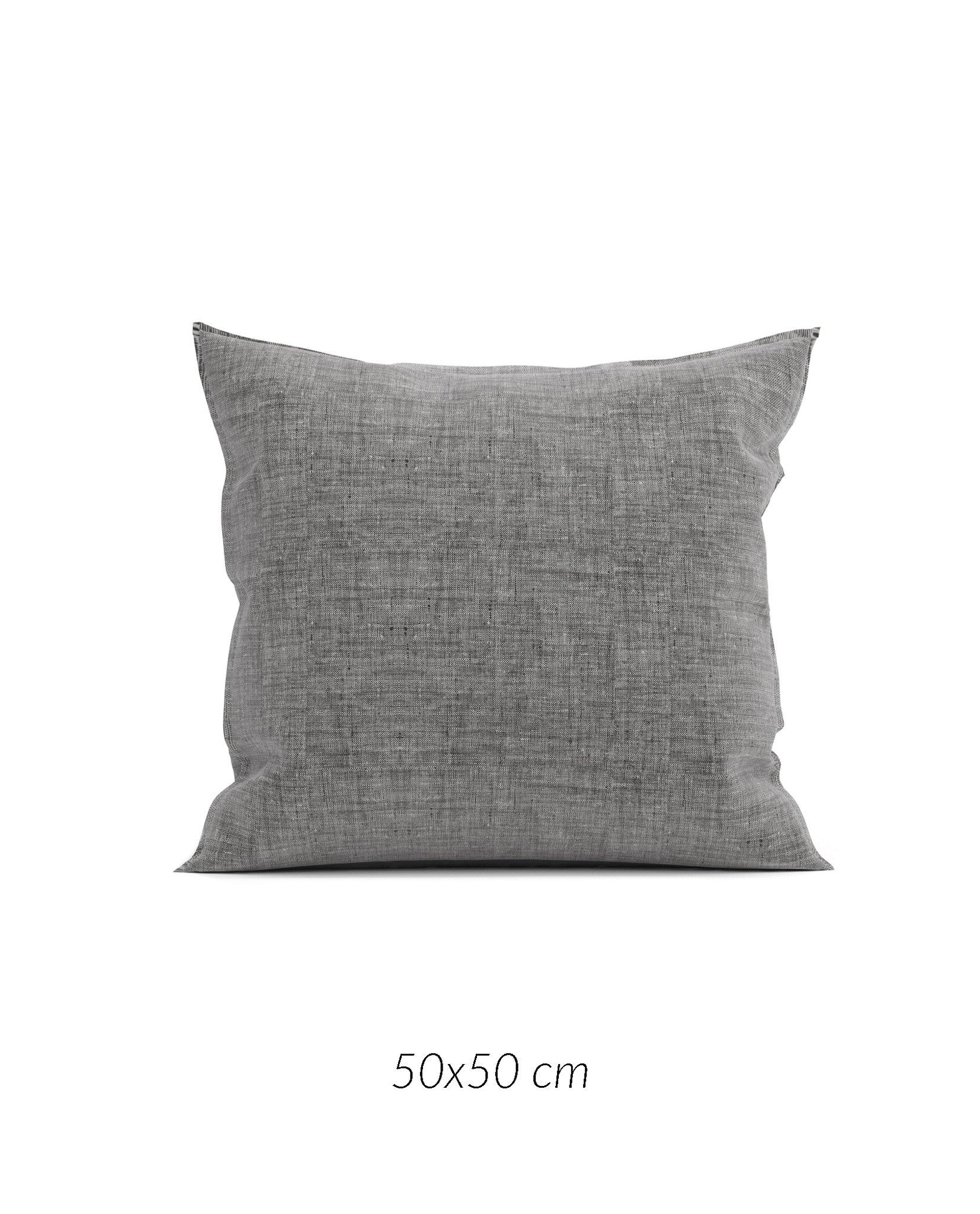 Lino K.-Hülle 50x50cm Dark Grey