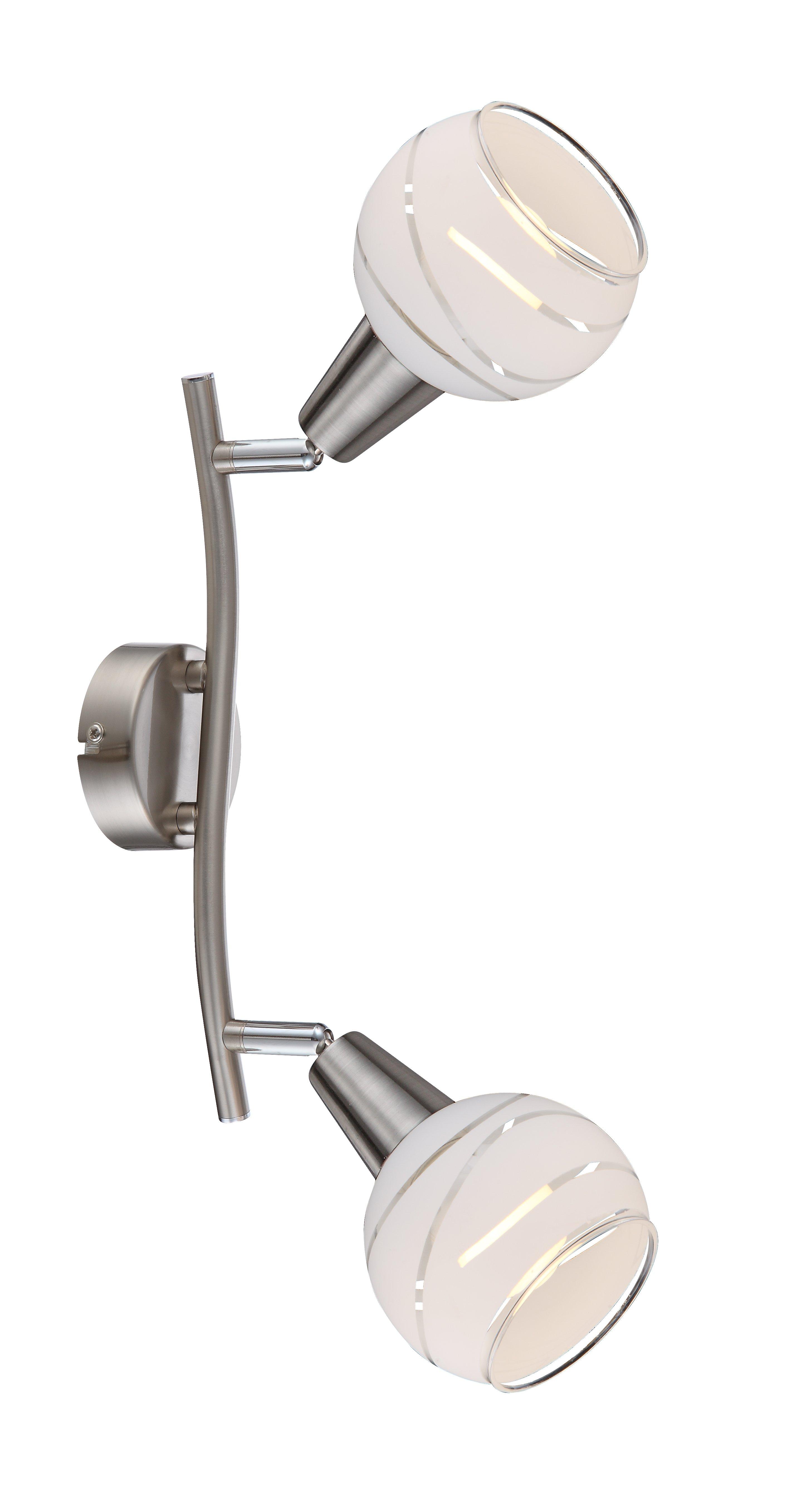 LED-Strahler, 2flg. L28_Metall, Metallfarben