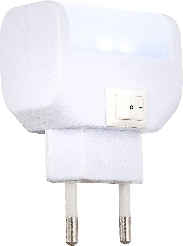 Wandl. 4xLED_Kunststoff Weiß, Weiß