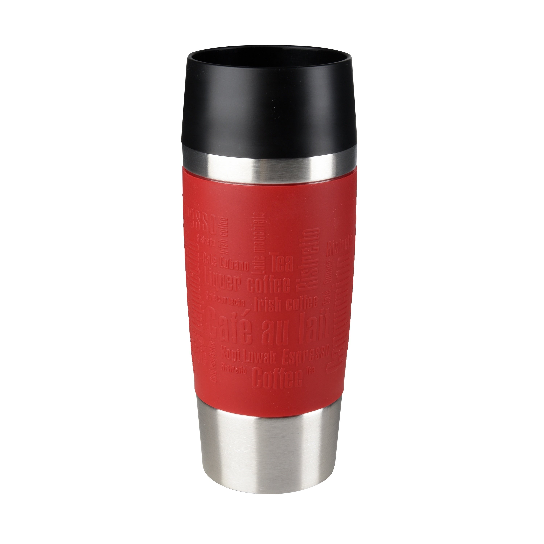 TRAVEL MUG Isolierbecher 0,36L Manschette rot Standard