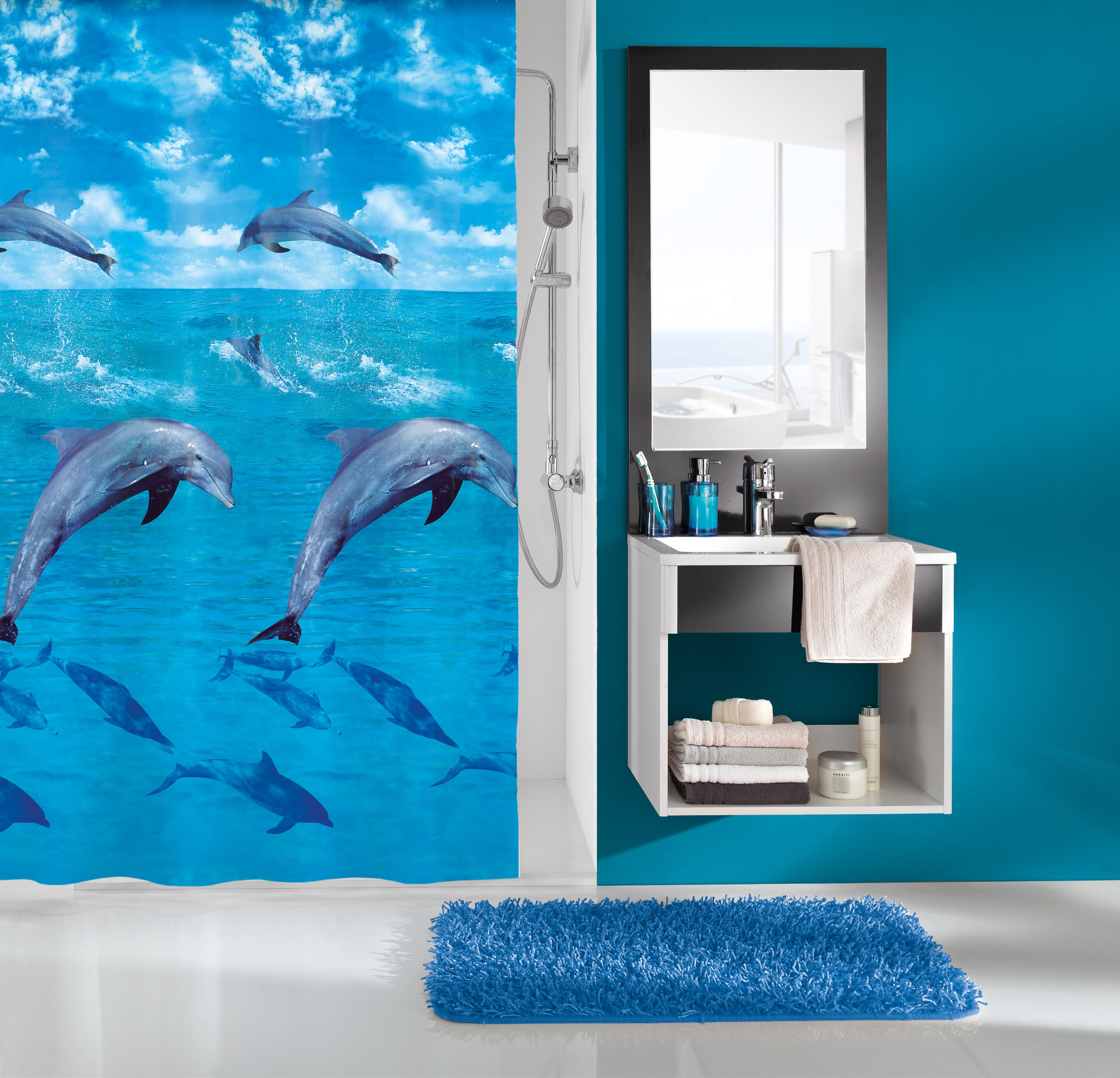 Duschvorhang Dolphin Multicolor B:180cm