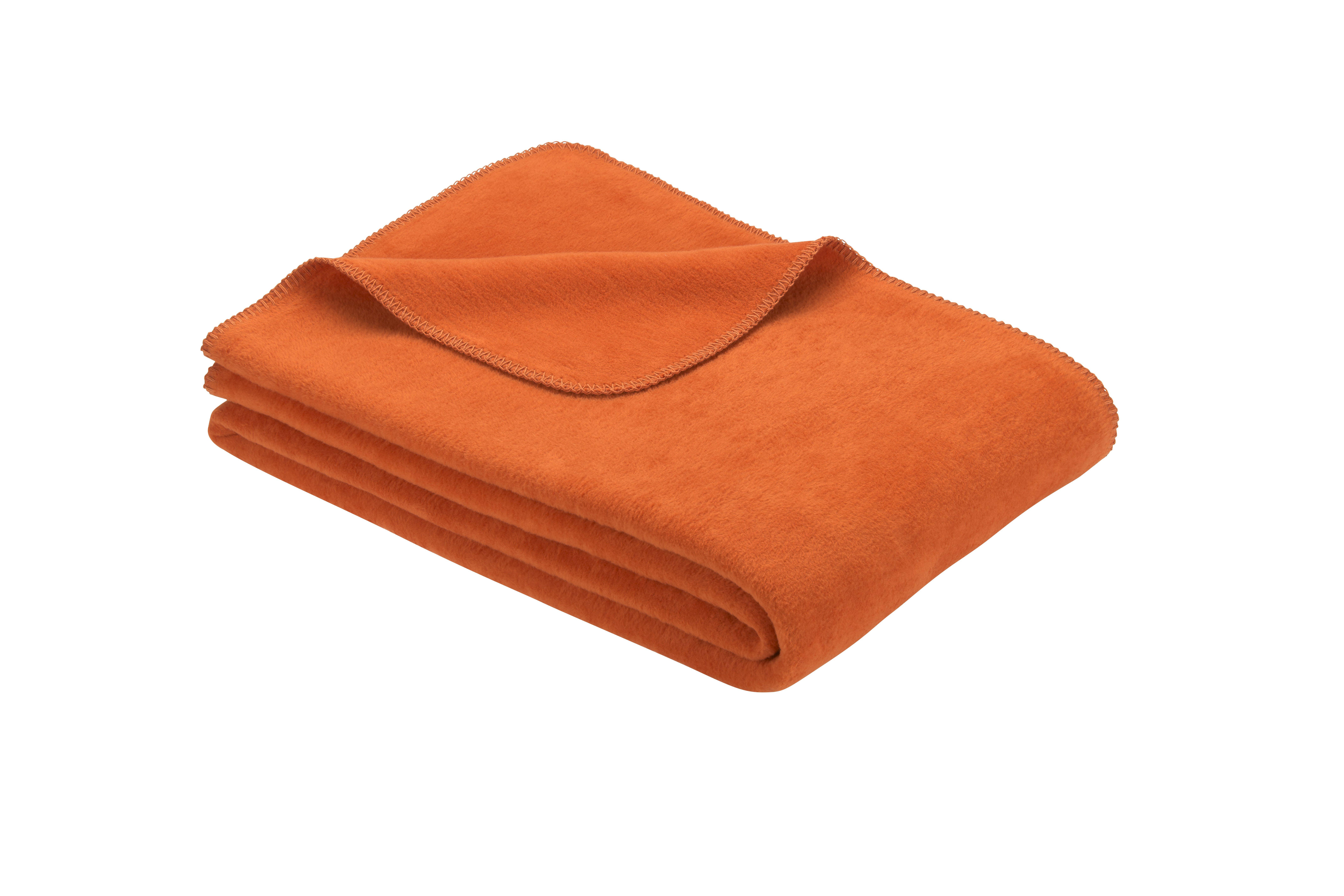 Uni Decke Bergamo mit Gots-Zertifikat Orange 150x200 cm