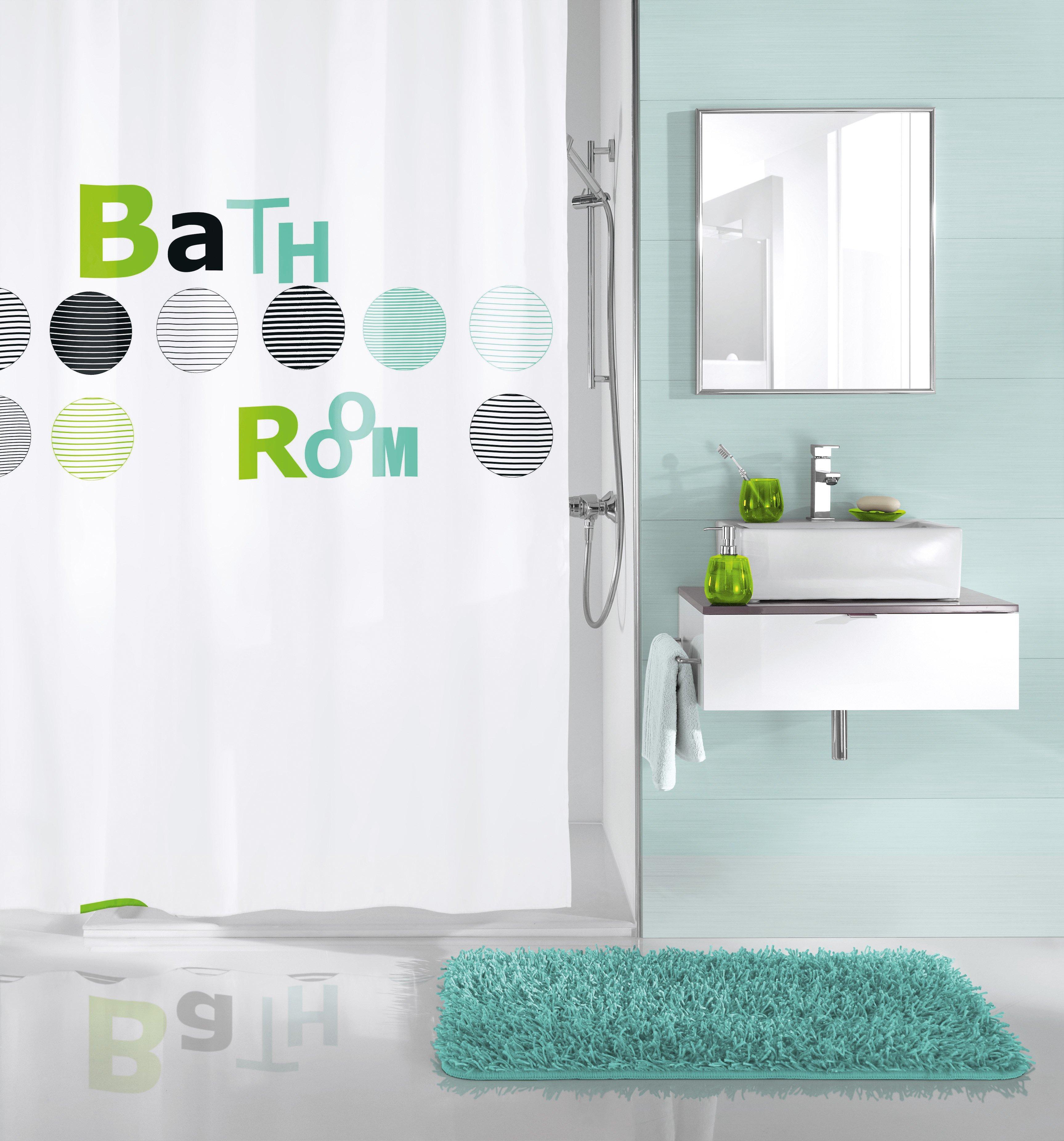 Duschvorhang Bathroom Mint B:180cm