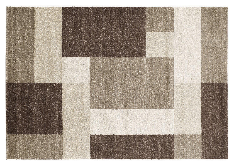 moderner Designer Teppich VILLA LIMA braun