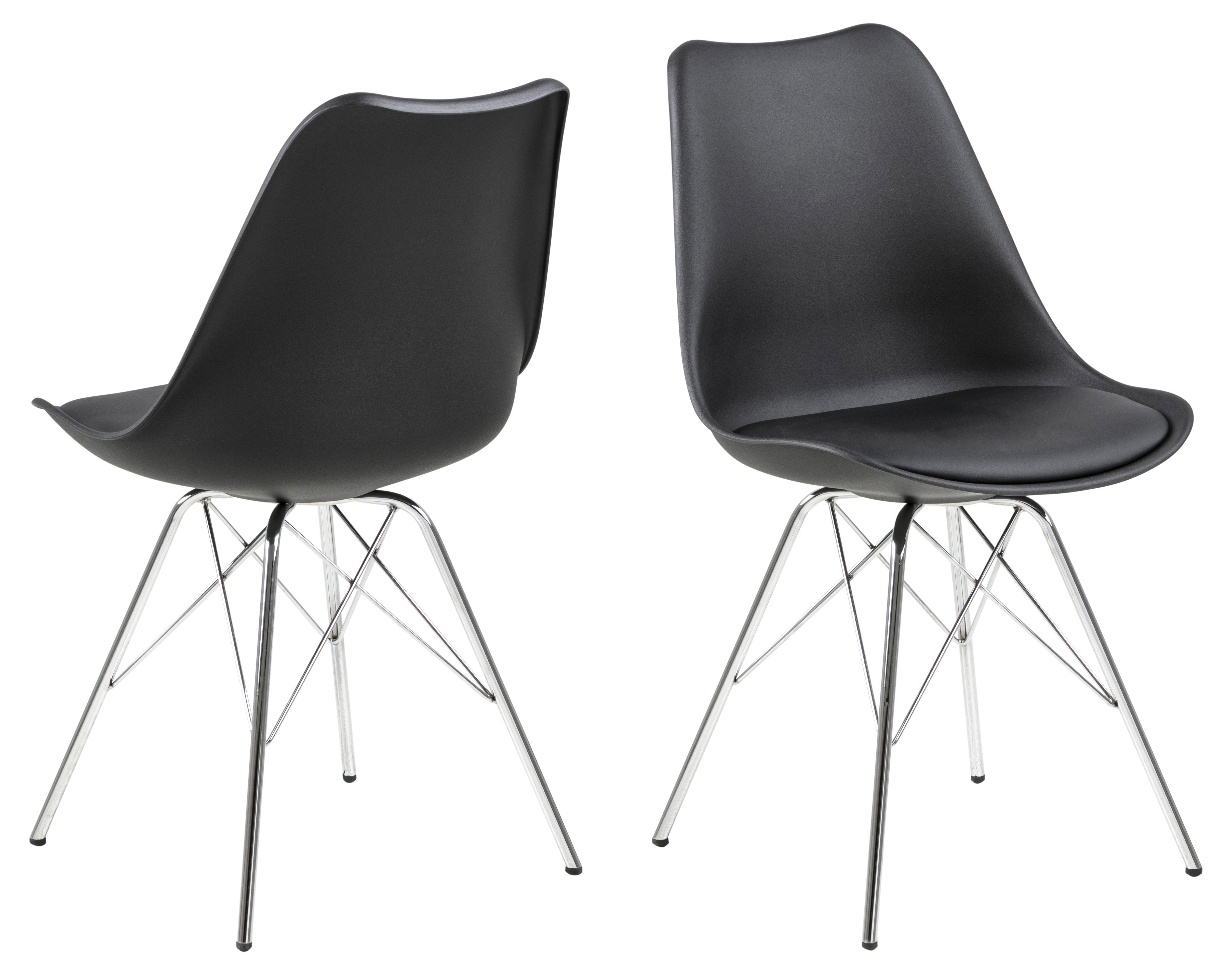Eris Stuhl, schwarz, Kunststoff