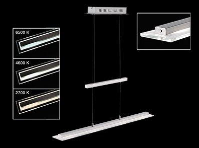 Pendelleuchte Tenso TW, Metallfarben | Transparent