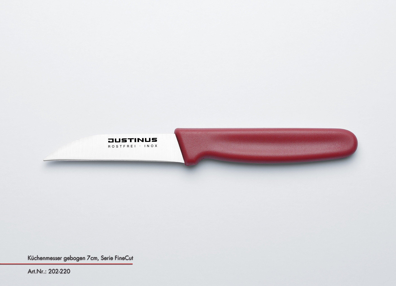 Küchenmesser geb., 7 cm Fine Cut roter Griff