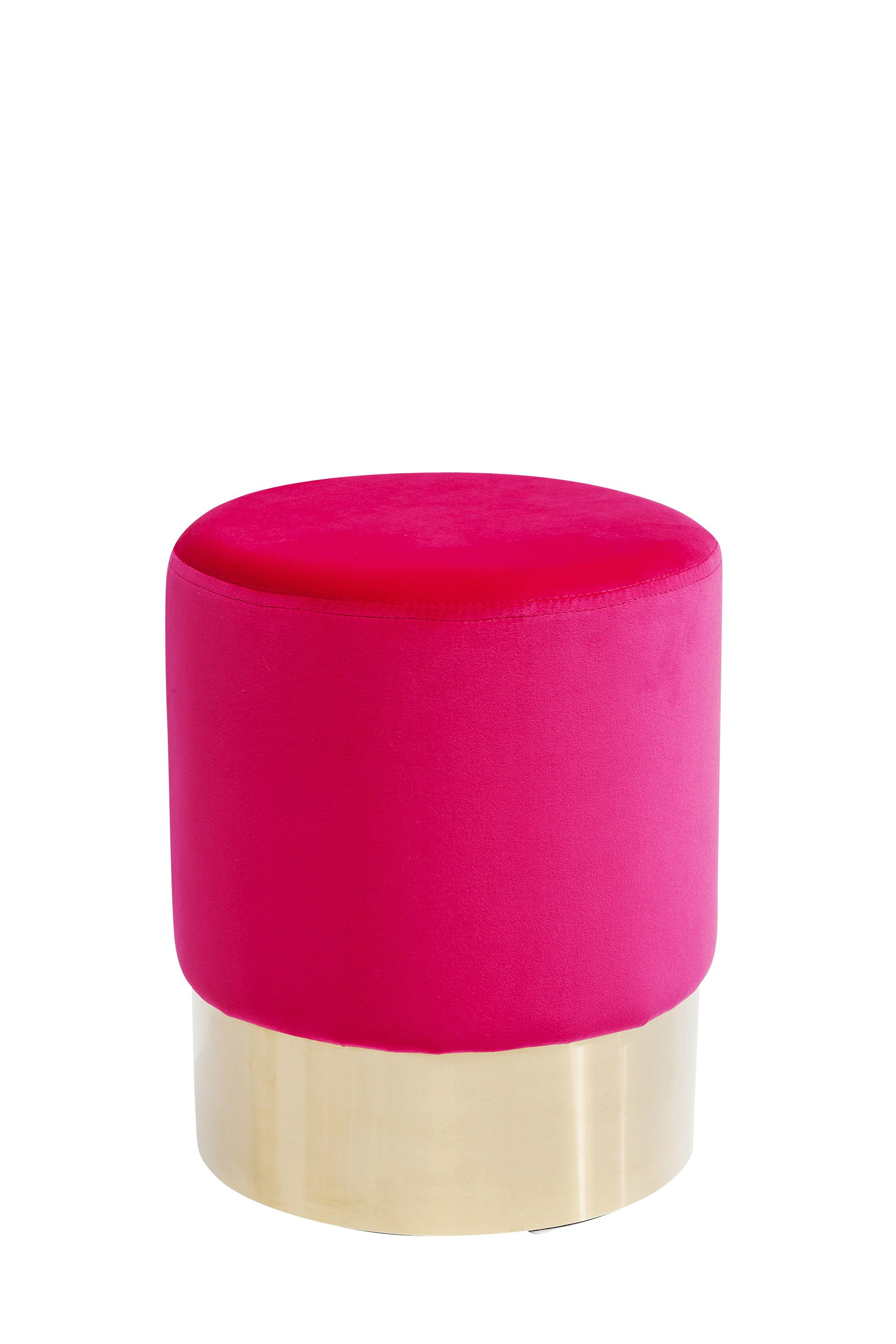Hocker Cherry Pink Brass Ø35cm