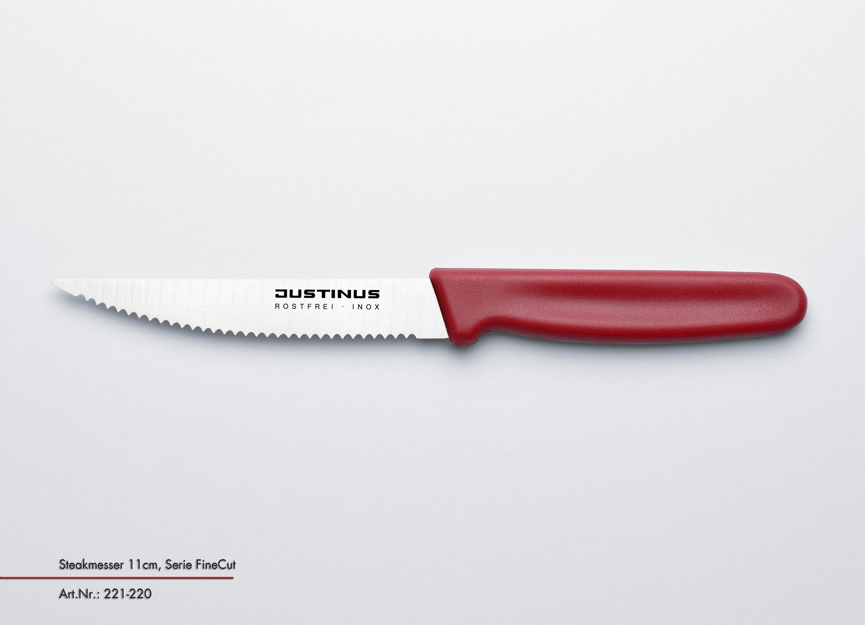 Steakmesser, 11 cm Fine Cut roter Griff