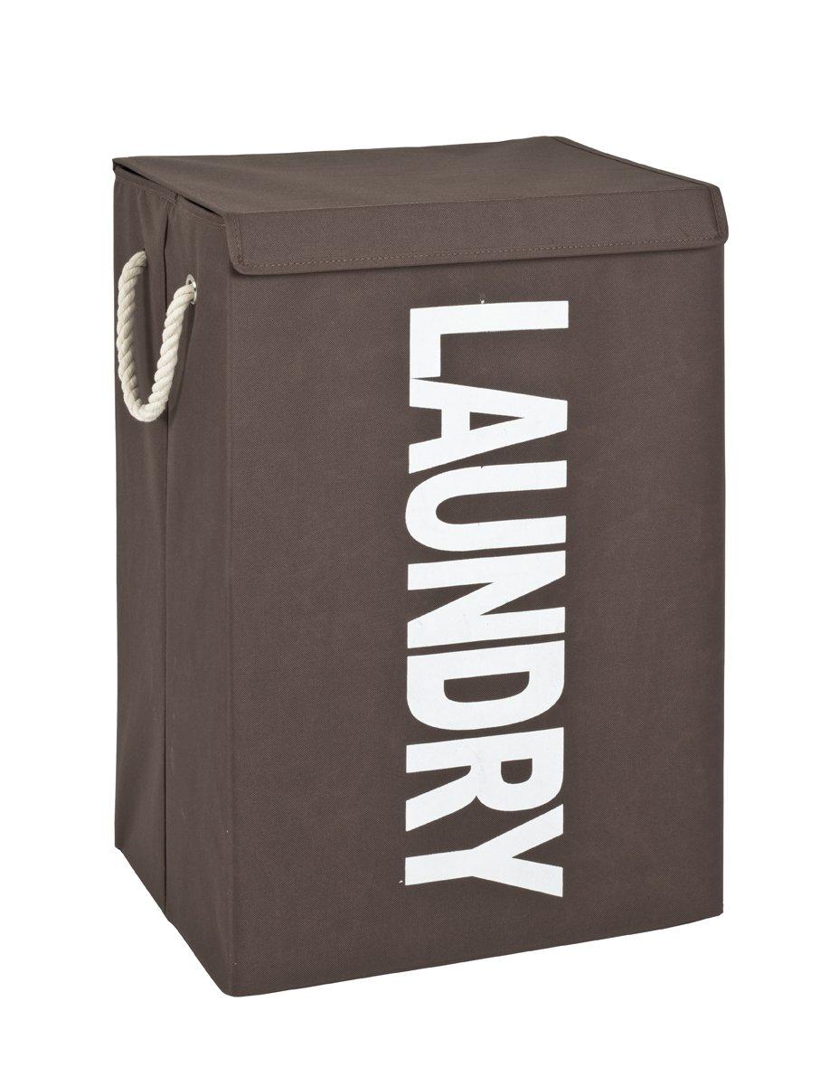 Wäschesammler, braun-weiß, Textilgewebe
