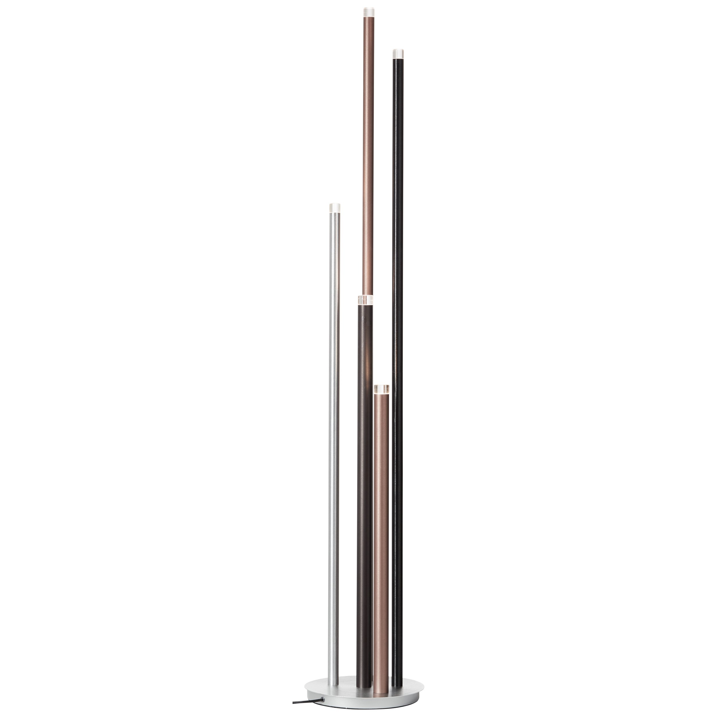 LED Standleuchte 5-flammig H155,30 D27,50, Braun
