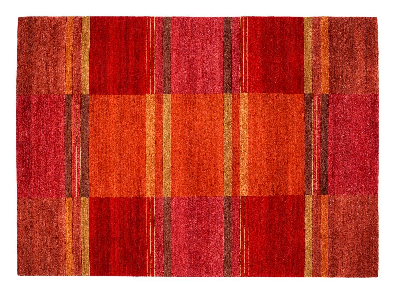 echter original handgeknüpfter Nepal-Teppich SENSATION SILK 100 SOYA kastanie