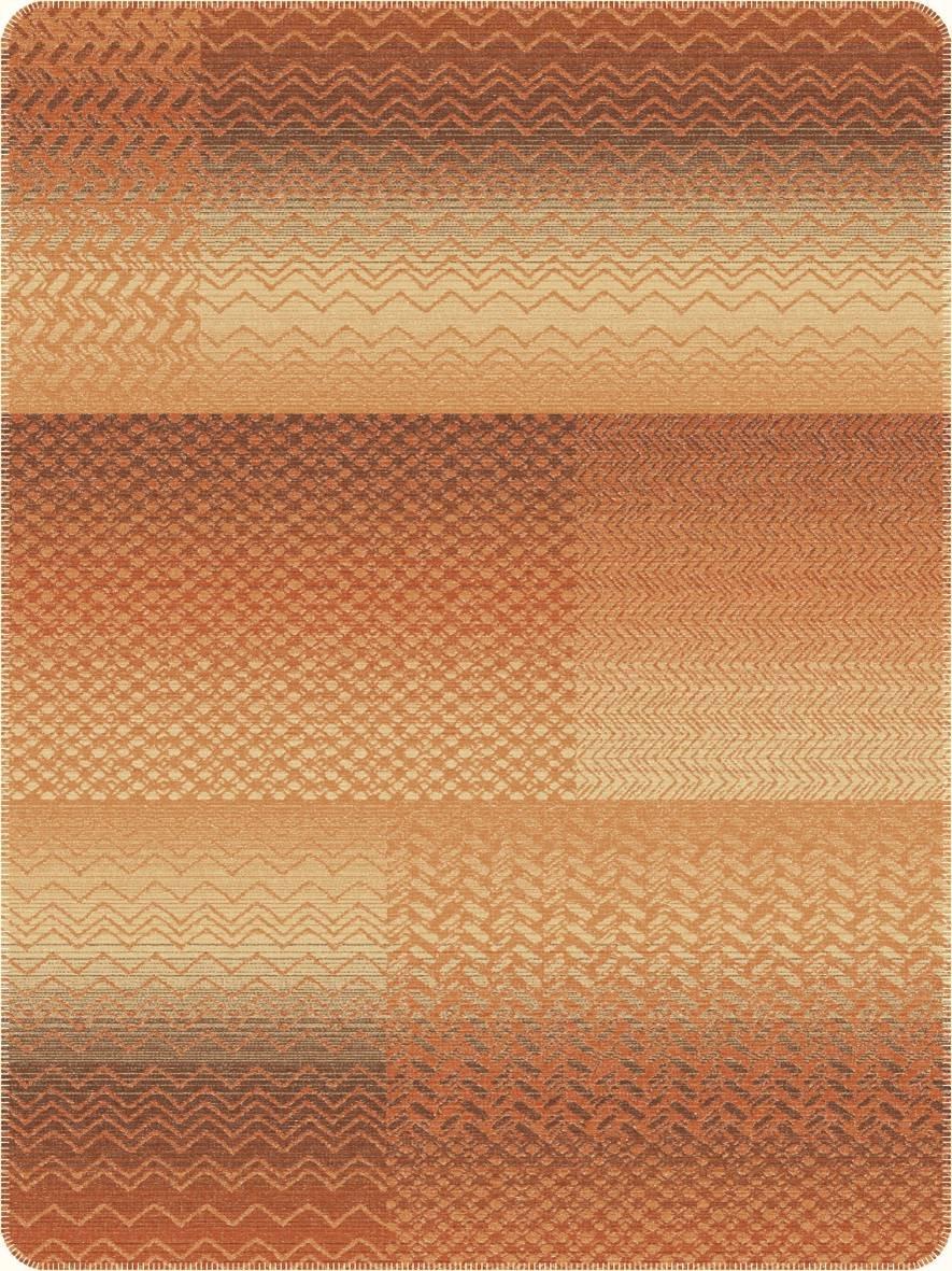 Jacquard Decke Ibena Trends Braun-Orange 150x200 cm