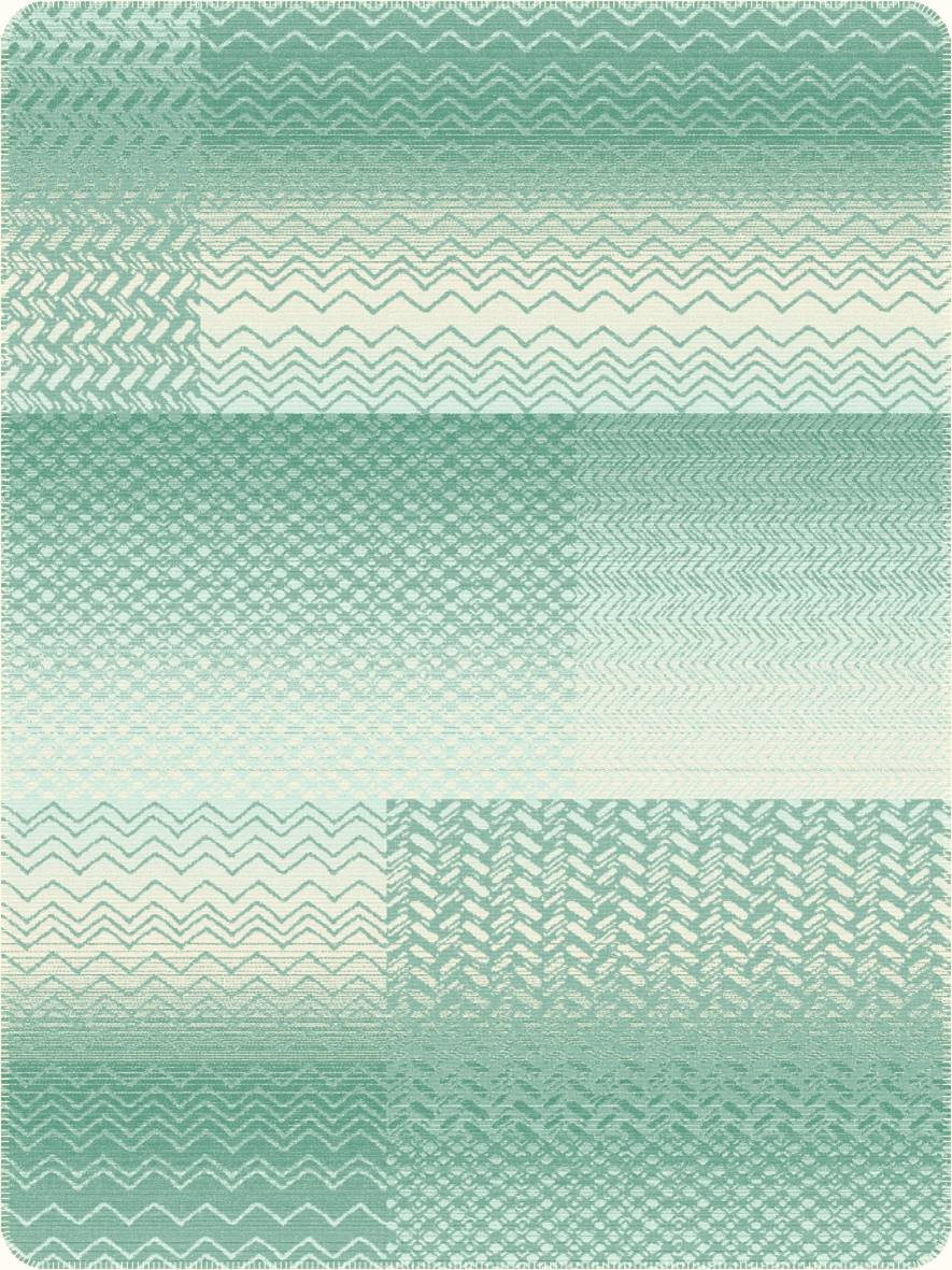 Jacquard Decke Ibena Trends Blau-Weiss 150x200 cm