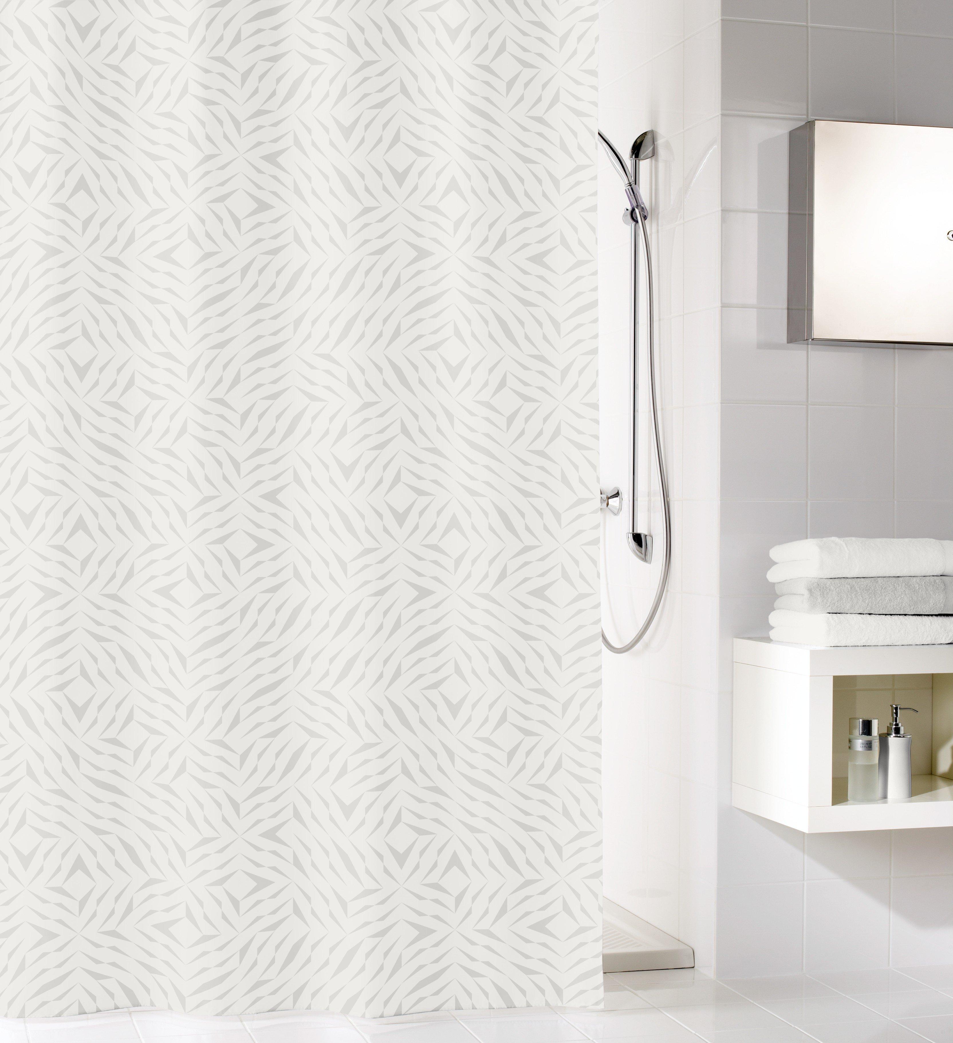 Duschvorhang Style Silbergrau B:180cm