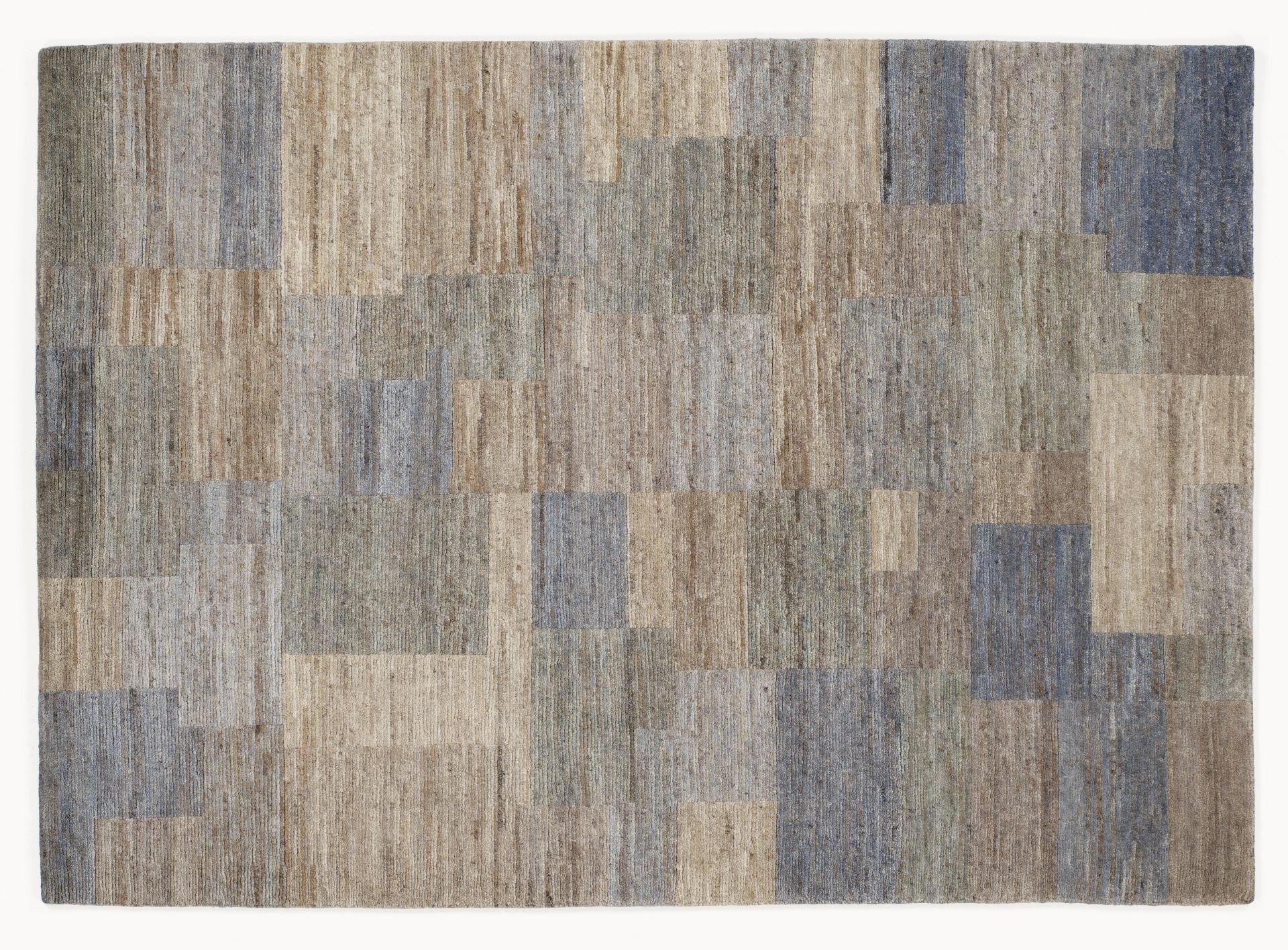 echter original handgeknüpfter Nepal-Teppich ELEGANT NEW LIMA silber-grau