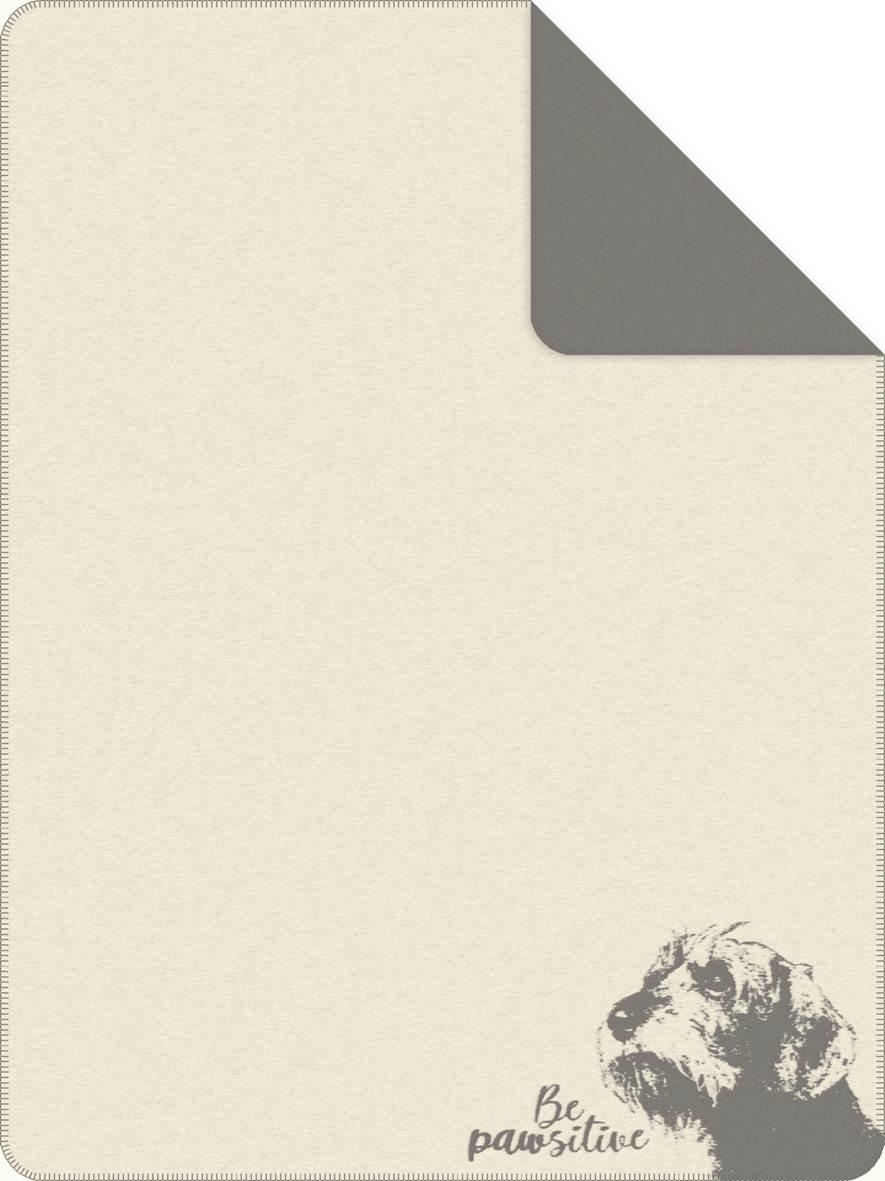 Jacquard Decke Tierisch Gut Weiss-Grau 150x200 cm
