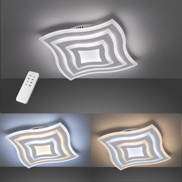LED Deckenleuchte Gorden | Kunstst weiß